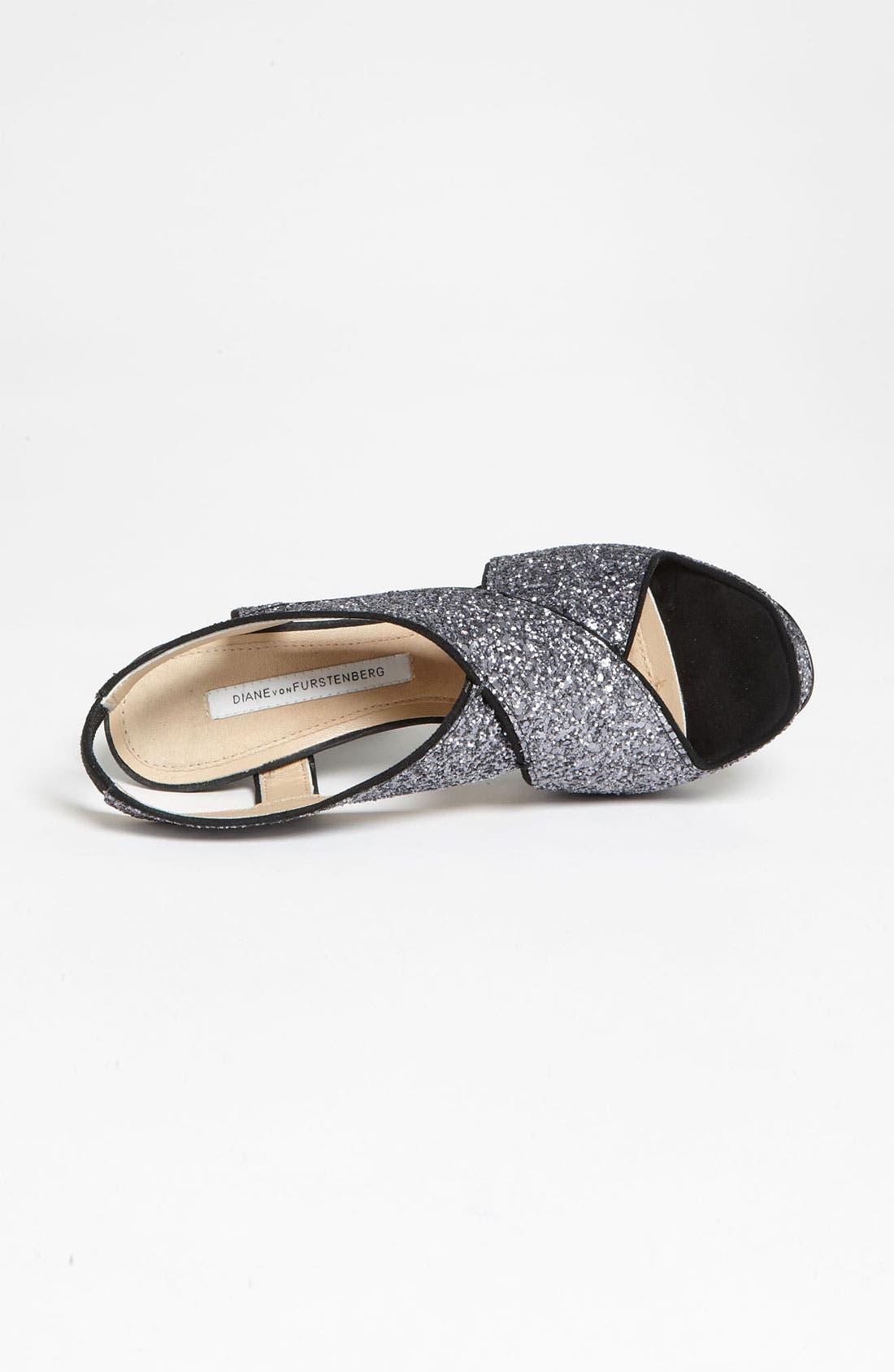 Alternate Image 3  - Diane von Furstenberg 'Zia' Glitter Sandal