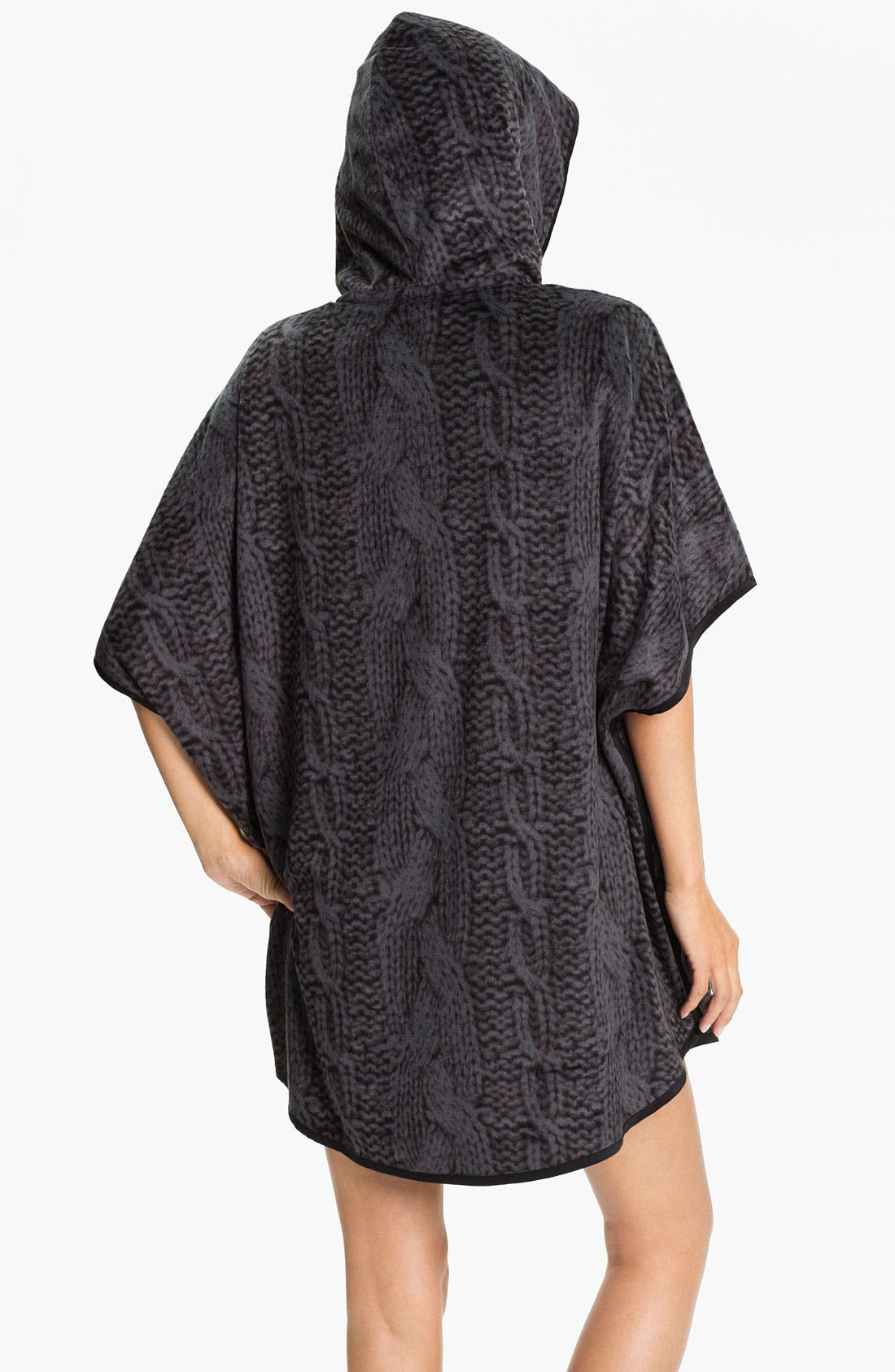 Alternate Image 2  - Kensie Hooded Sweatshirt Poncho