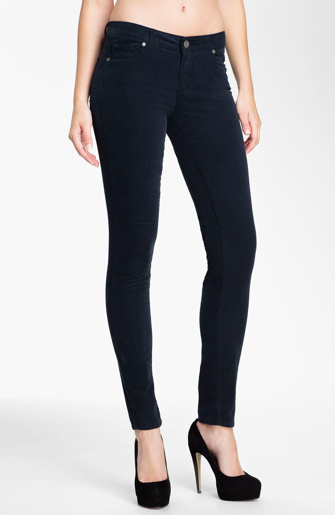 Main Image - Paige Denim 'Verdugo' Skinny Corduroy Pants (Deep)