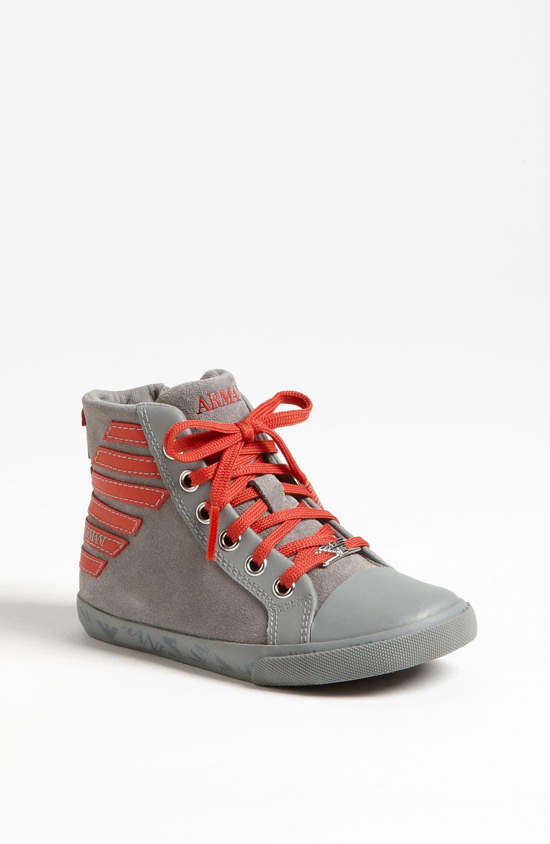 Alternate Image 1 Selected - Armani Junior 'Eagle' Sneaker (Walker & Toddler)