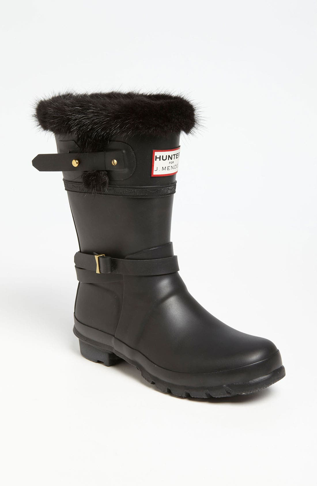 Alternate Image 1 Selected - Hunter for J. Mendel Genuine Fur Trim Boot (Women)