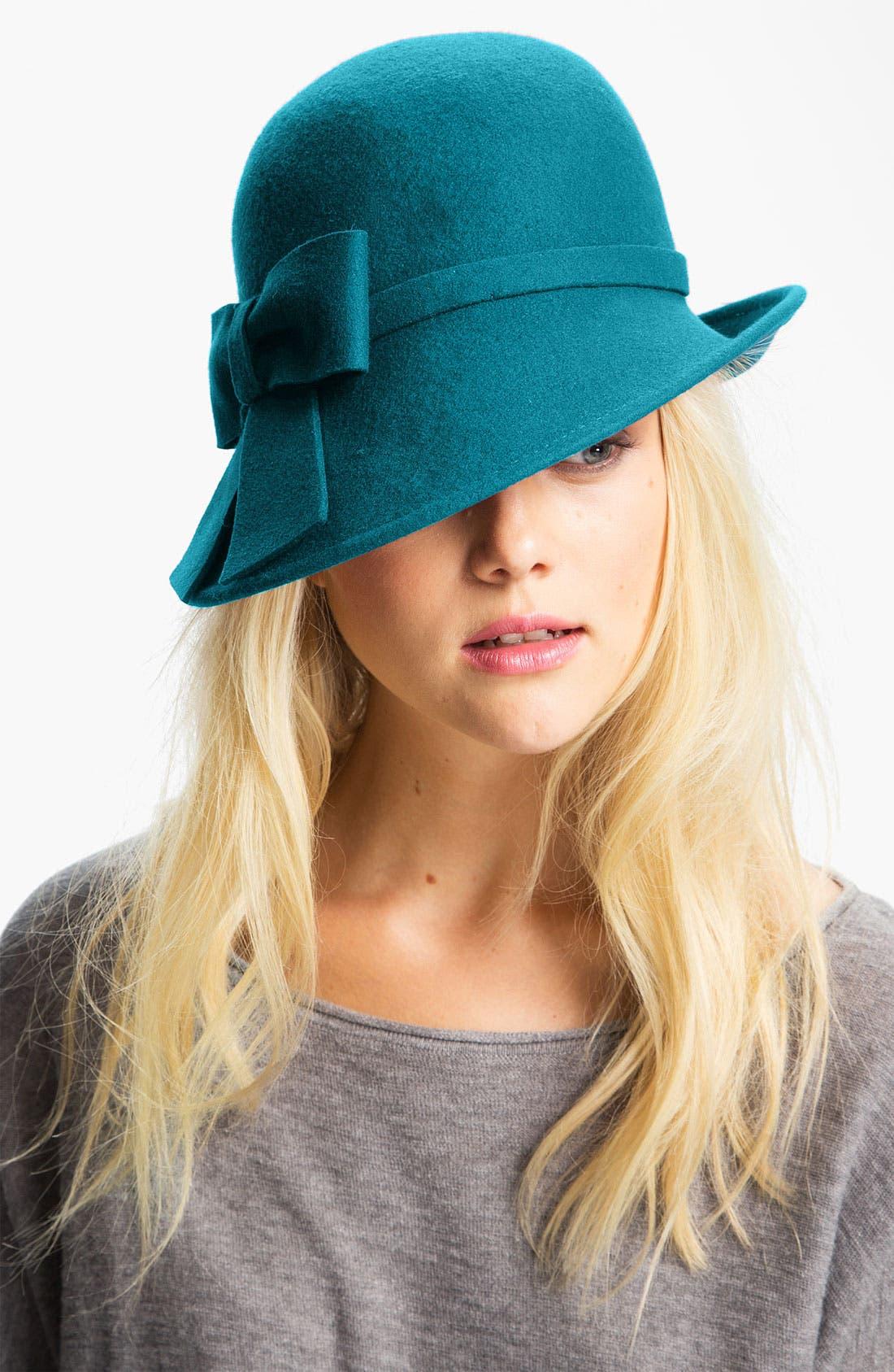 Alternate Image 1 Selected - Halogen® Asymmetrical Wool Cloche
