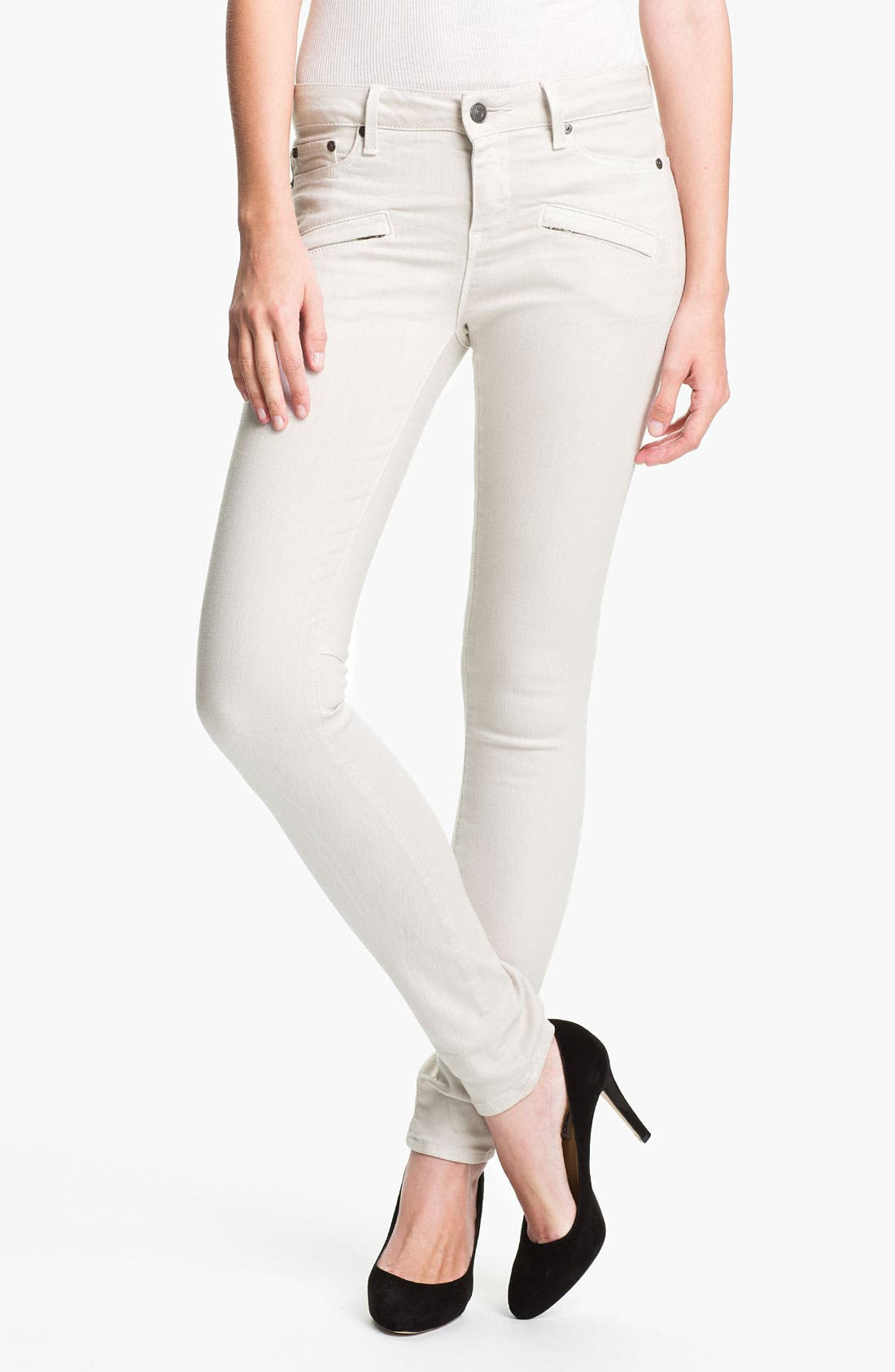 Main Image - Vince Stretch Skinny Jeans (Snow)