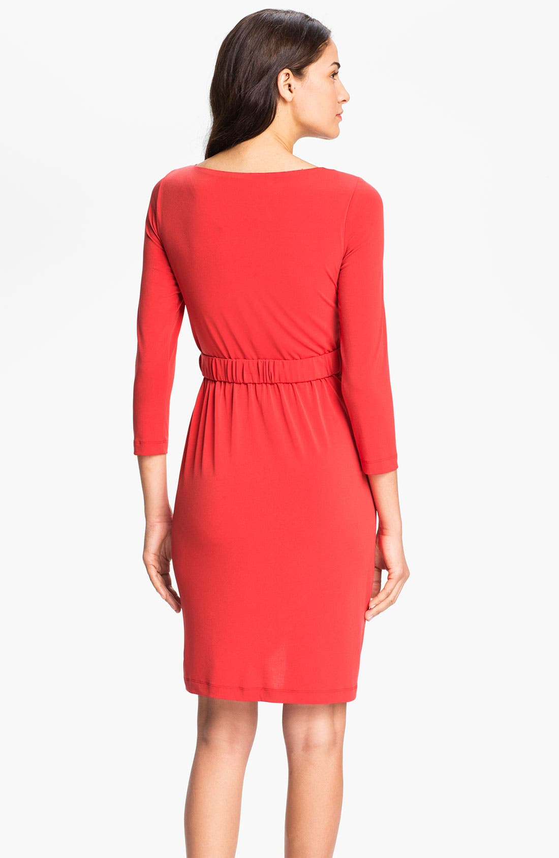 Alternate Image 2  - Eliza J Side Drape Jersey Sheath Dress