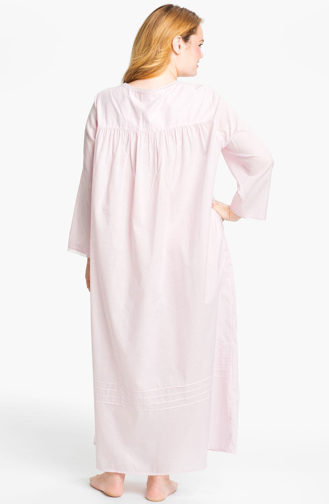 Alternate Image 2  - Eileen West Button Front Nightgown (Plus Size)