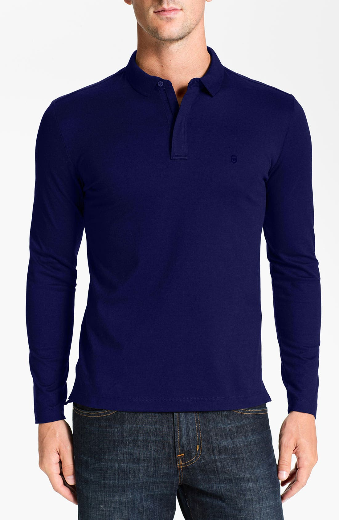 Alternate Image 1 Selected - Victorinox Swiss Army® Piqué Zip Polo (Online Exclusive)