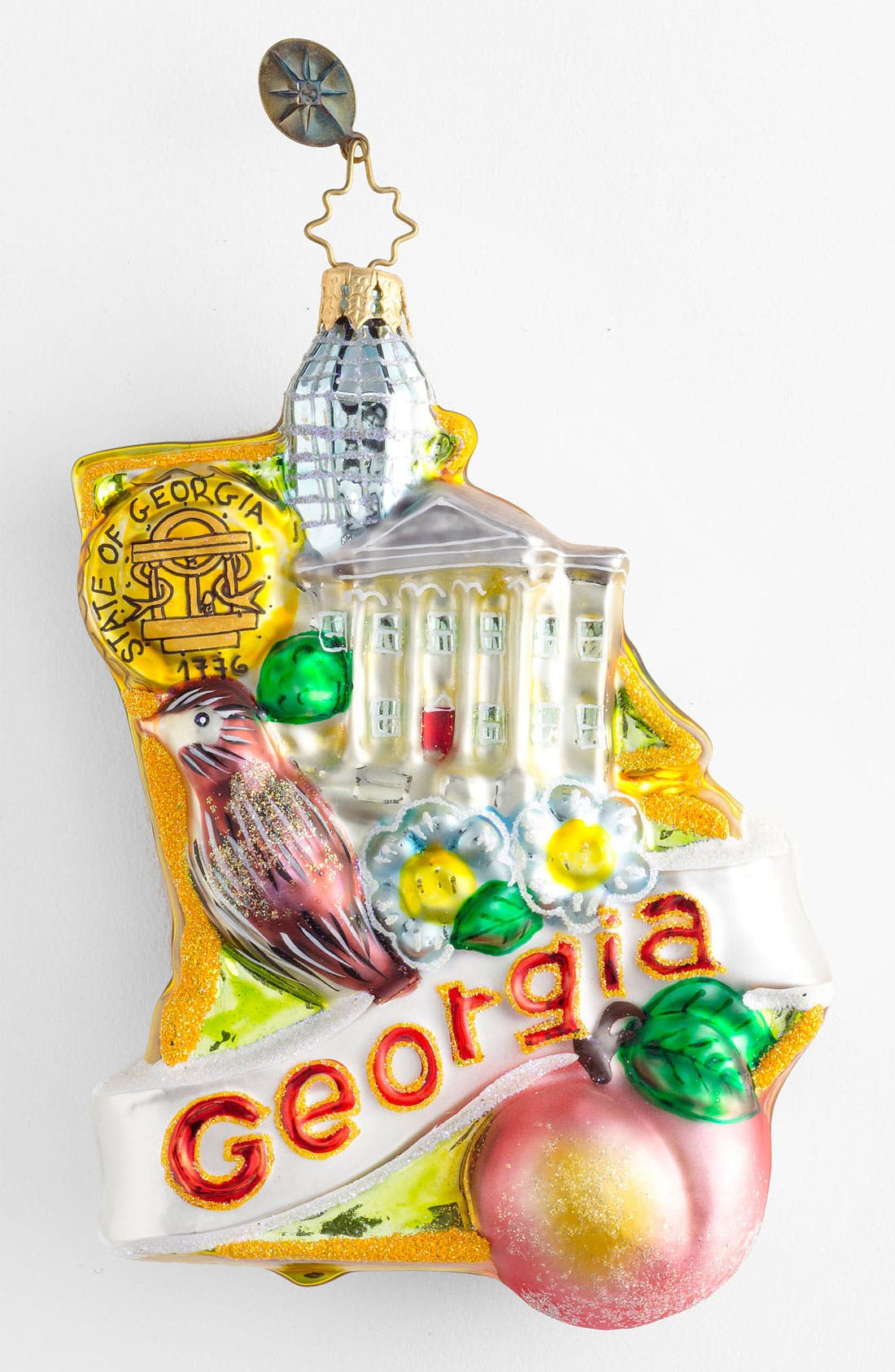 Main Image - Christopher Radko 'Georgia on My Mind' Ornament