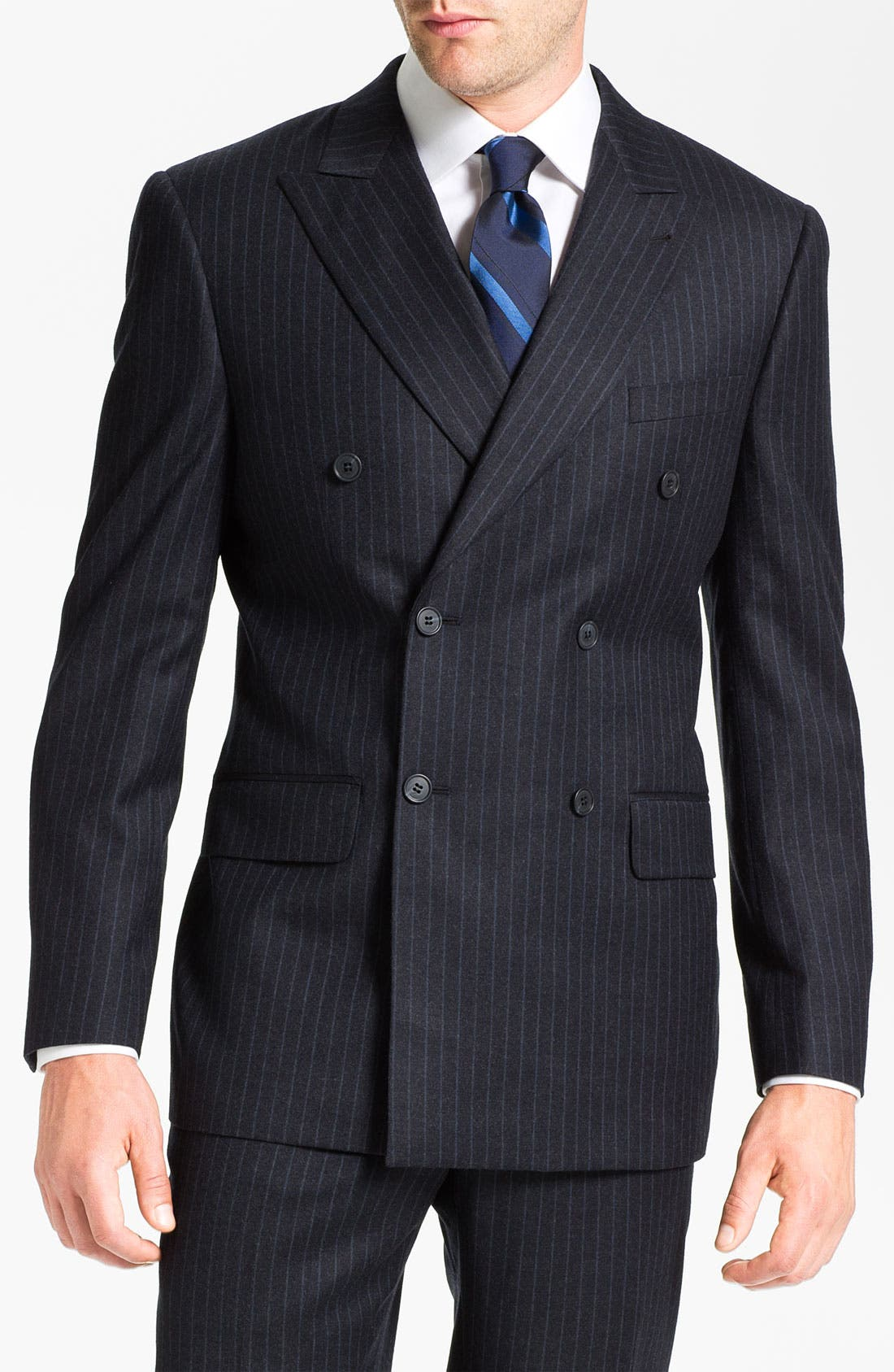 Main Image - Joseph Abboud Double Breasted Pinstripe Suit