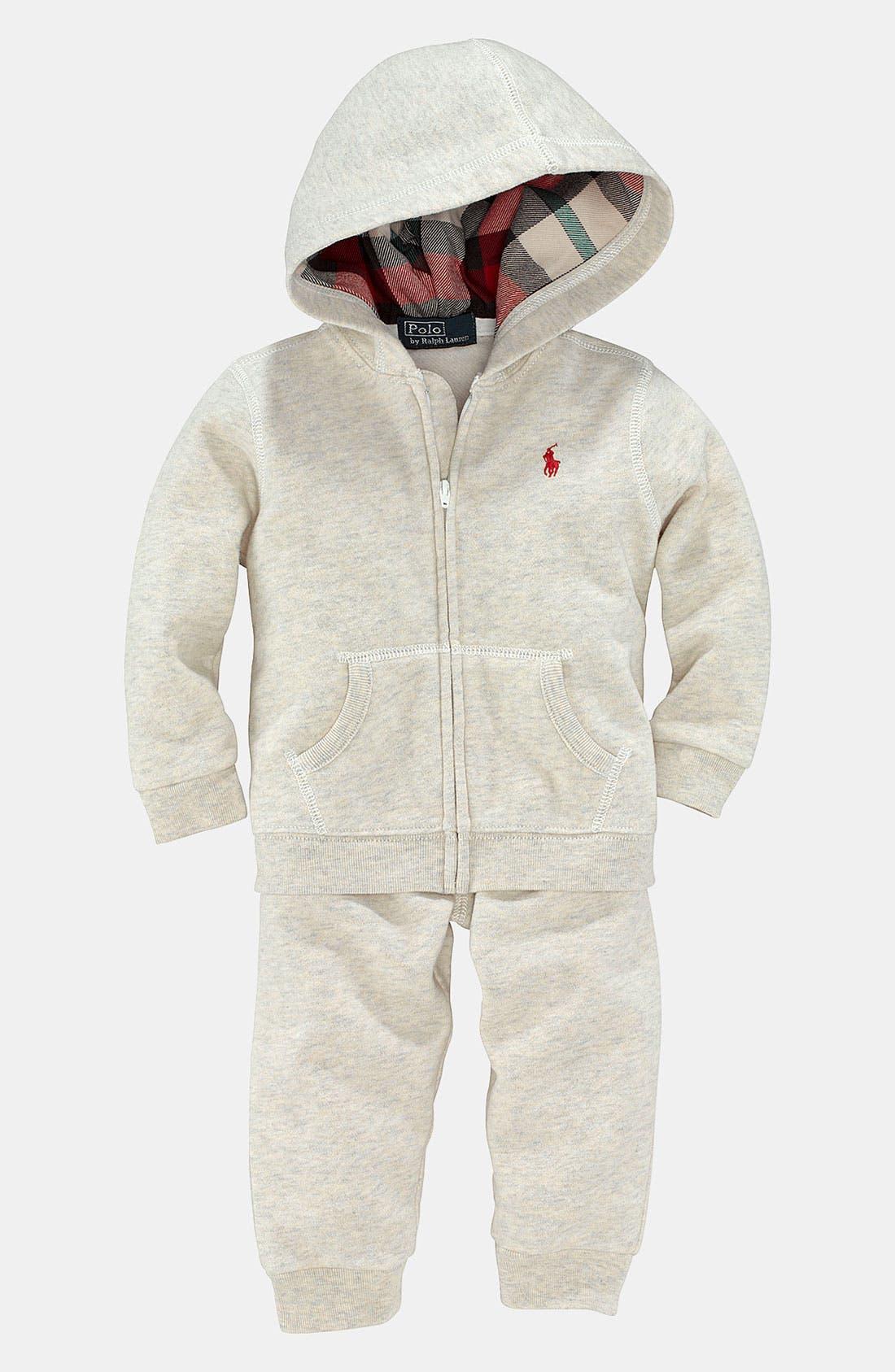 Alternate Image 1 Selected - Ralph Lauren Hoodie & Pants (Infant)