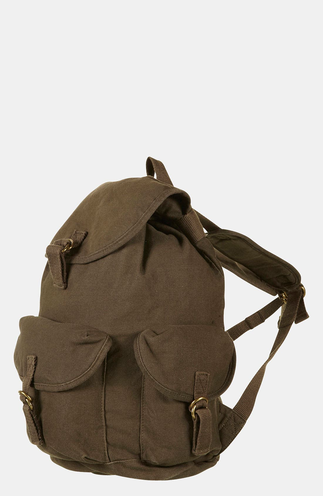 Main Image - Topshop Washed Military Backpack