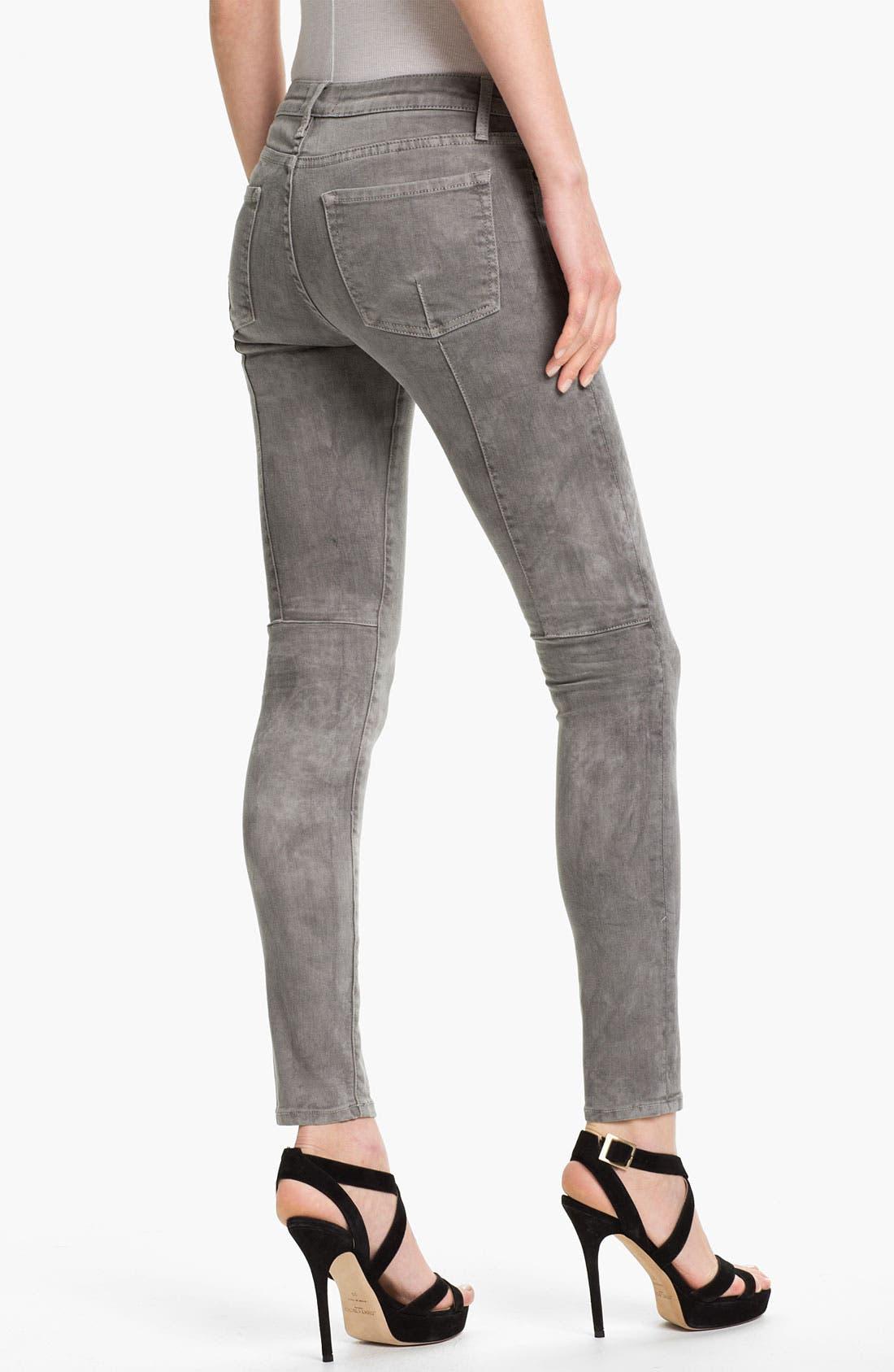 Alternate Image 2  - Vince Skinny Stretch Jeans (Marble Laser)