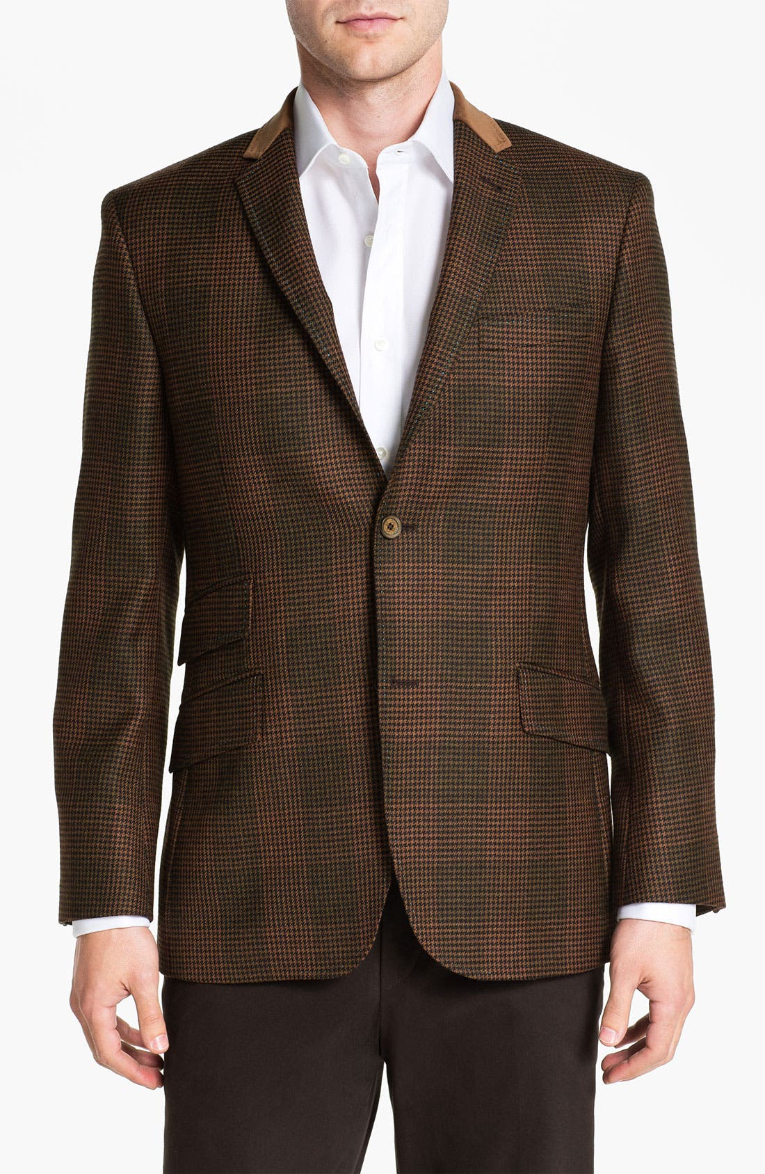 Alternate Image 1 Selected - Ted Baker London 'Global' Trim Fit Check Sportcoat