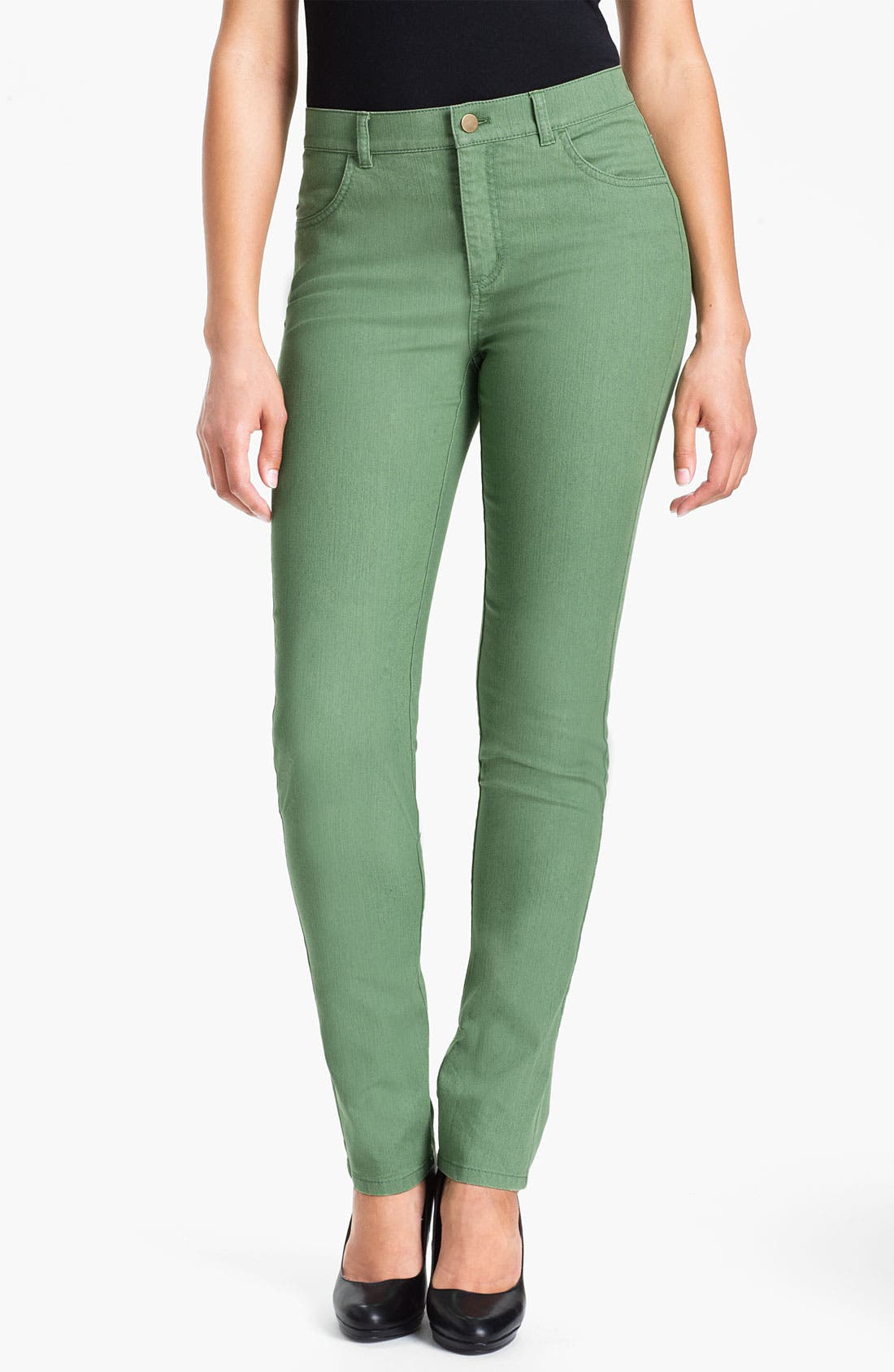 Alternate Image 1 Selected - Lafayette 148 New York Curvy Fit Slim Leg Jeans