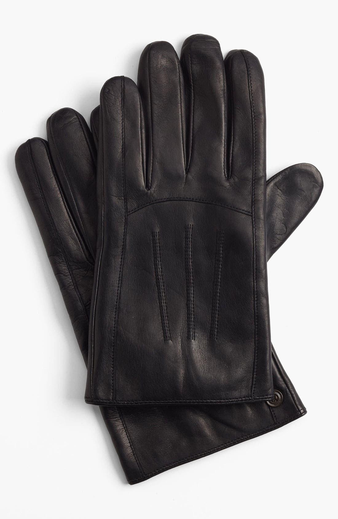Alternate Image 1 Selected - BOSS Black 'Eru' Leather Gloves