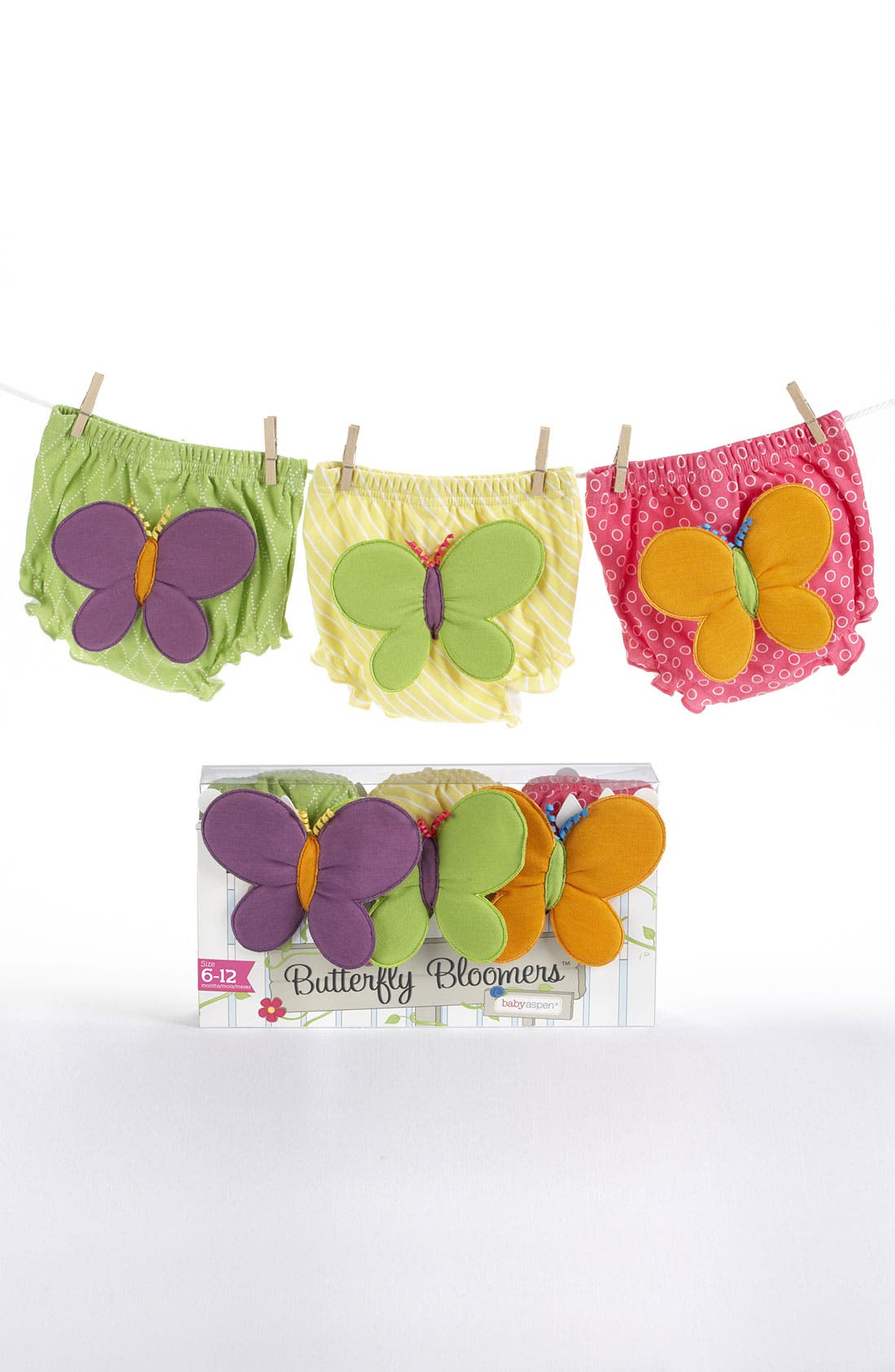 Alternate Image 4  - Baby Aspen Butterfly Bloomers (Set of 3) (Baby)