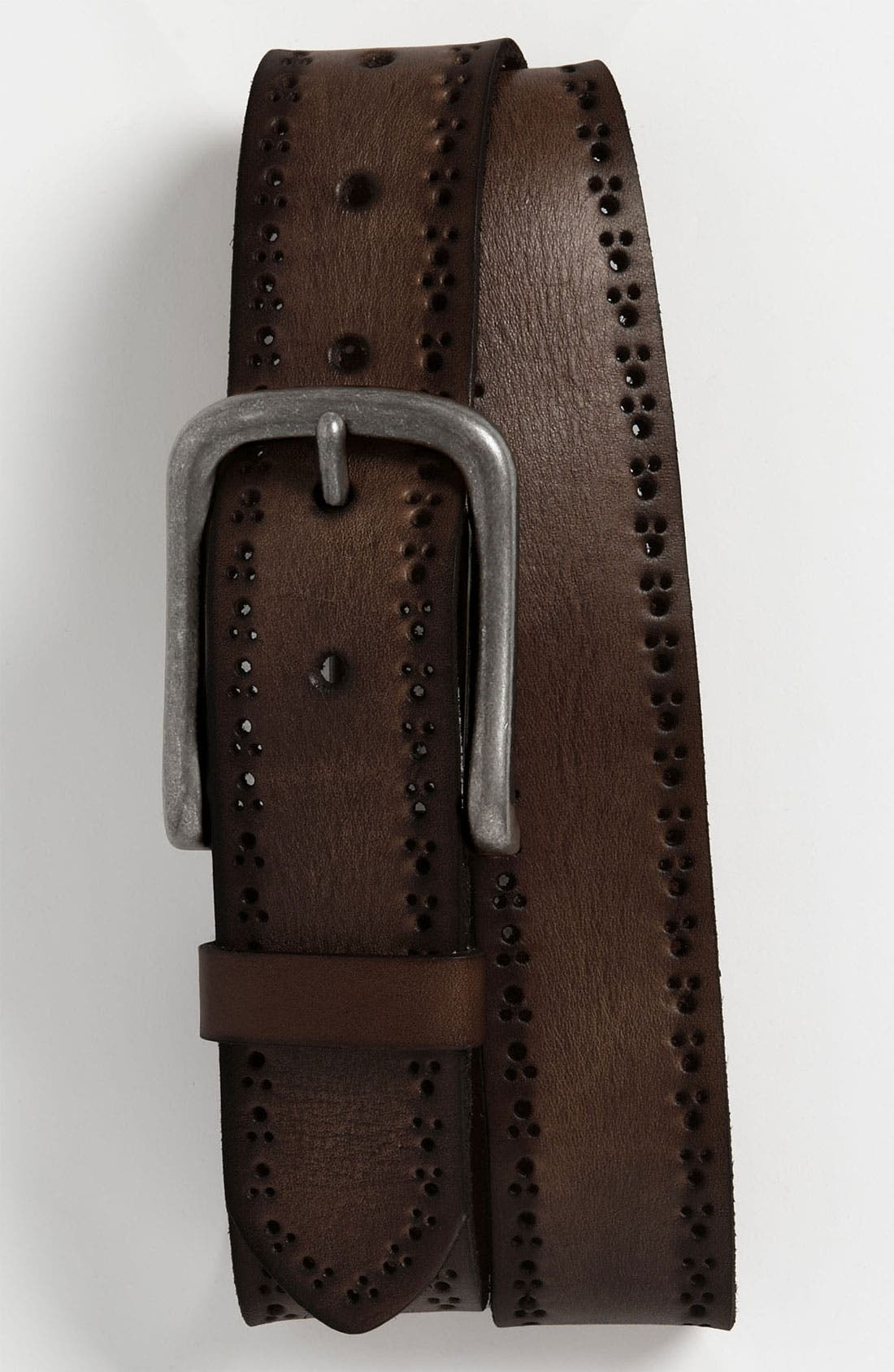 Alternate Image 1 Selected - 1901 'Rough' Perforated Leather Belt