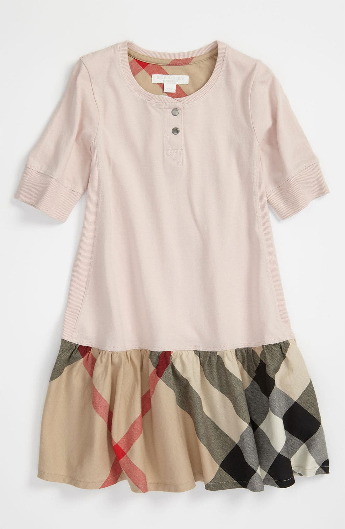 Alternate Image 1 Selected - Burberry Drop Waist Jersey Dress (Little Girls & Big Girls)
