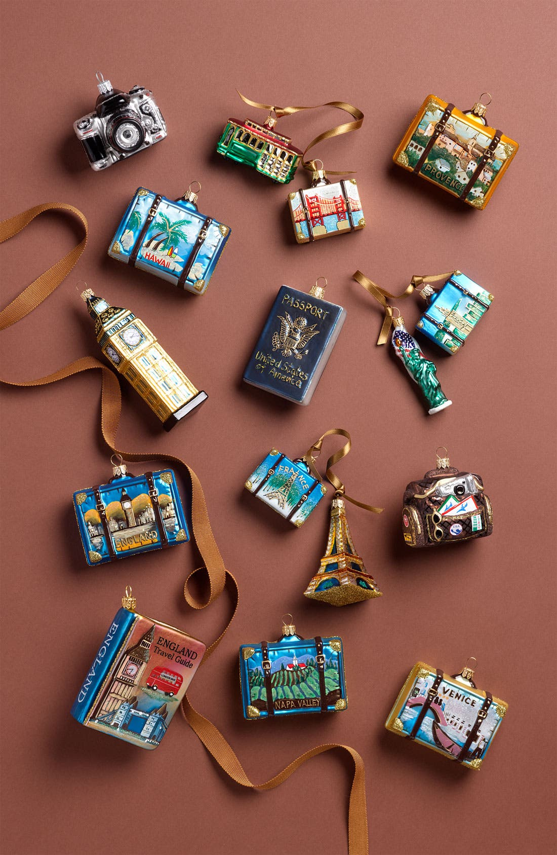 Alternate Image 2  - Nordstrom at Home 'England' Glass Suitcase Ornament