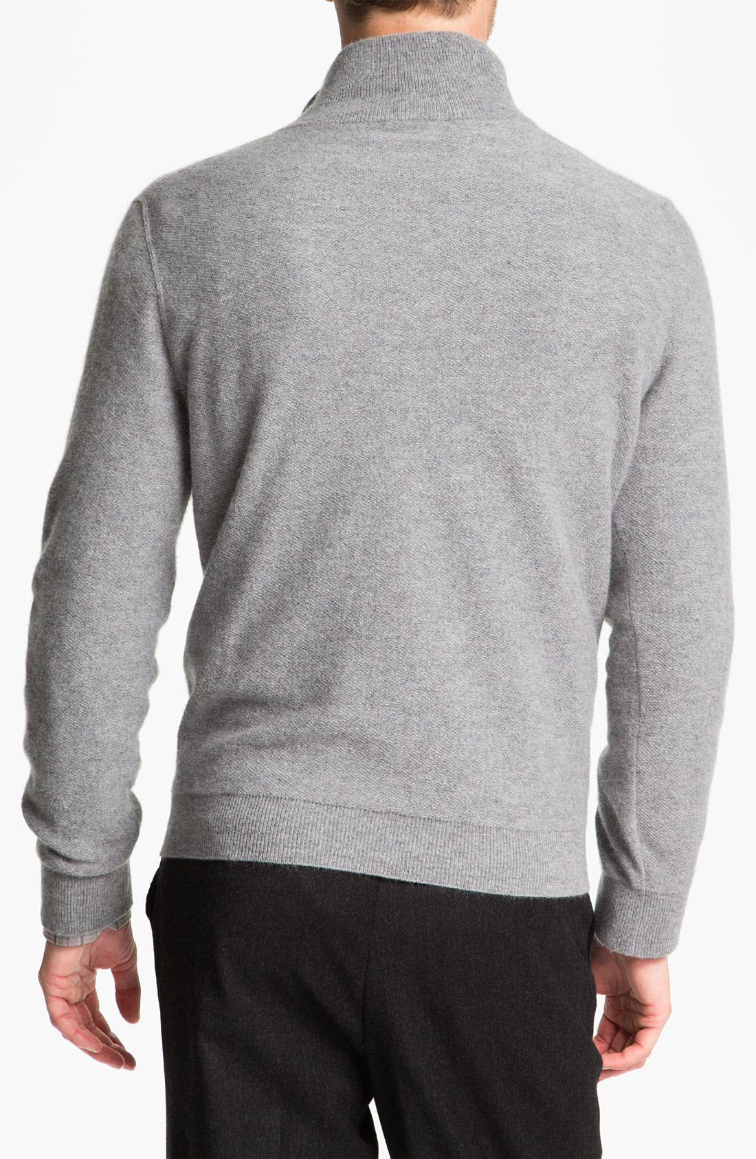 Alternate Image 2  - Orlandini Wool & Angora Mock Neck Sweater