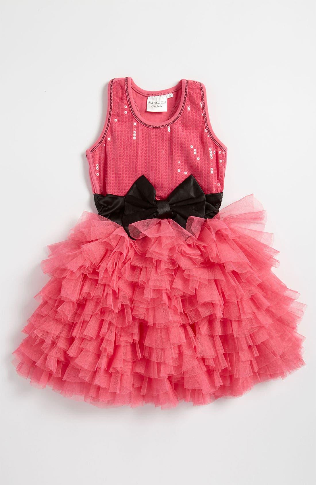 Alternate Image 1 Selected - Ooh! La, La! Couture 'Wow' Sequin Tutu Dress (Little Girls)