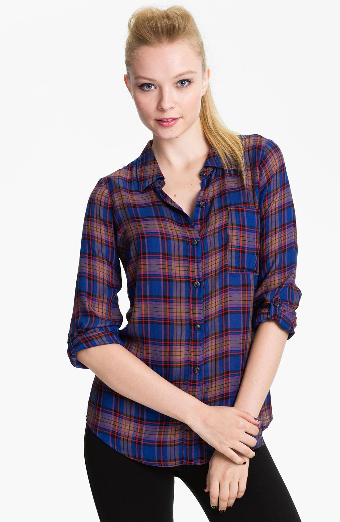 Main Image - Splendid 'Charlee' Plaid Shirt