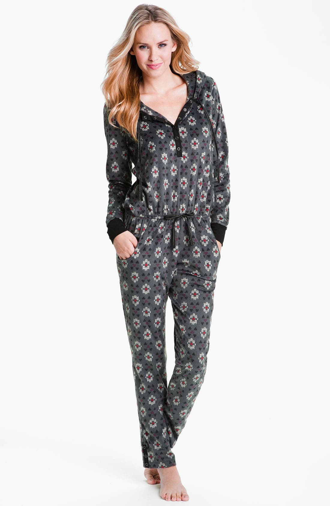 Main Image - Kensie Fleece Union Suit