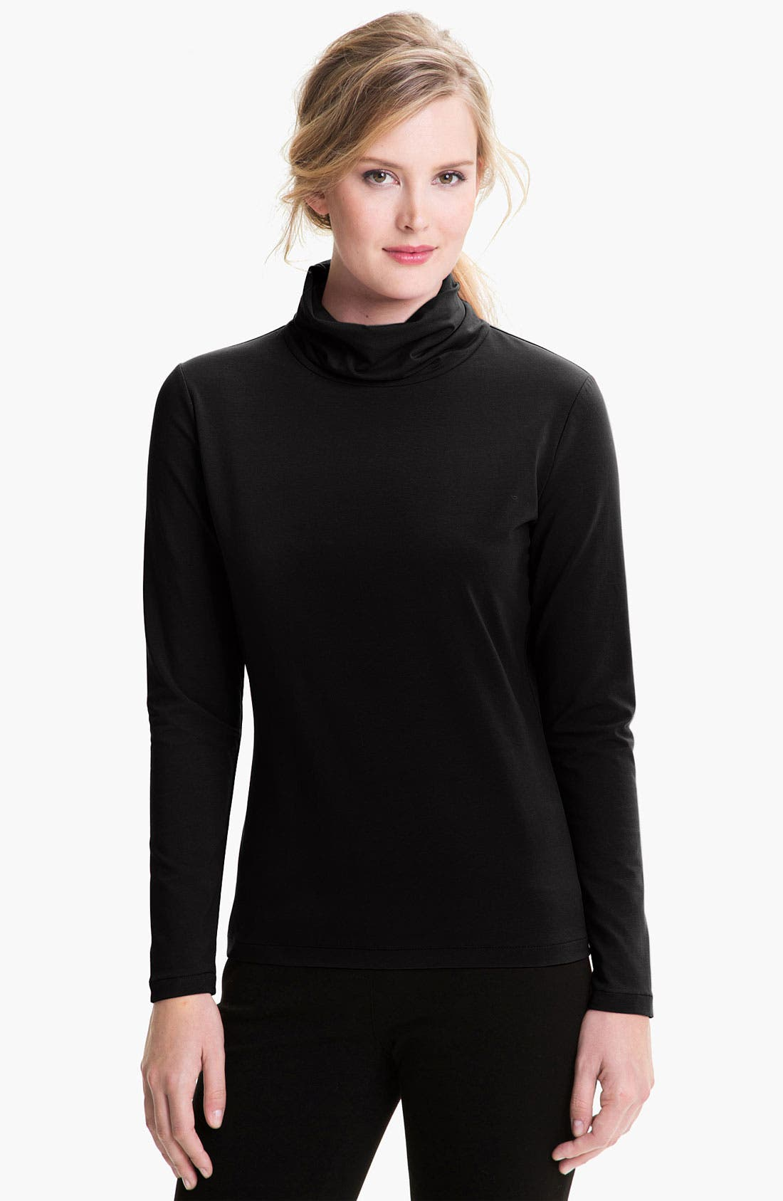 Main Image - Lafayette 148 New York 'City Stretch' Turtleneck