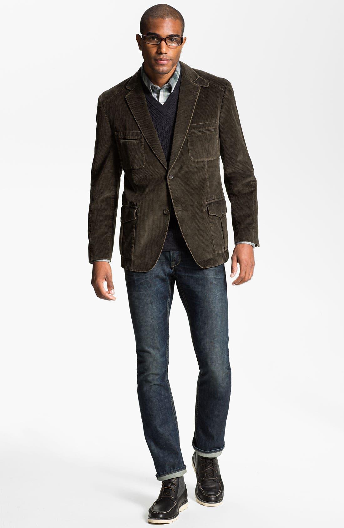 Alternate Image 4  - Nordstrom Regular Fit Cotton Flannel Shirt