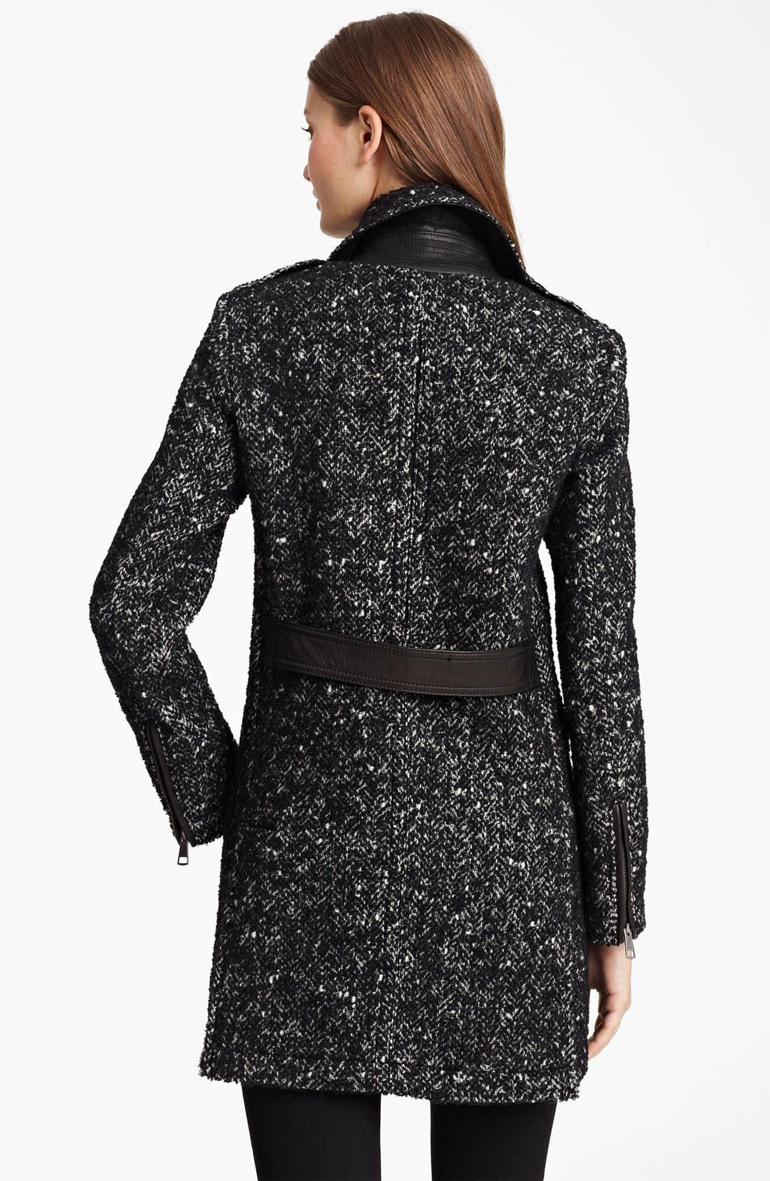 Alternate Image 2  - Burberry Brit Wool Blend Coat