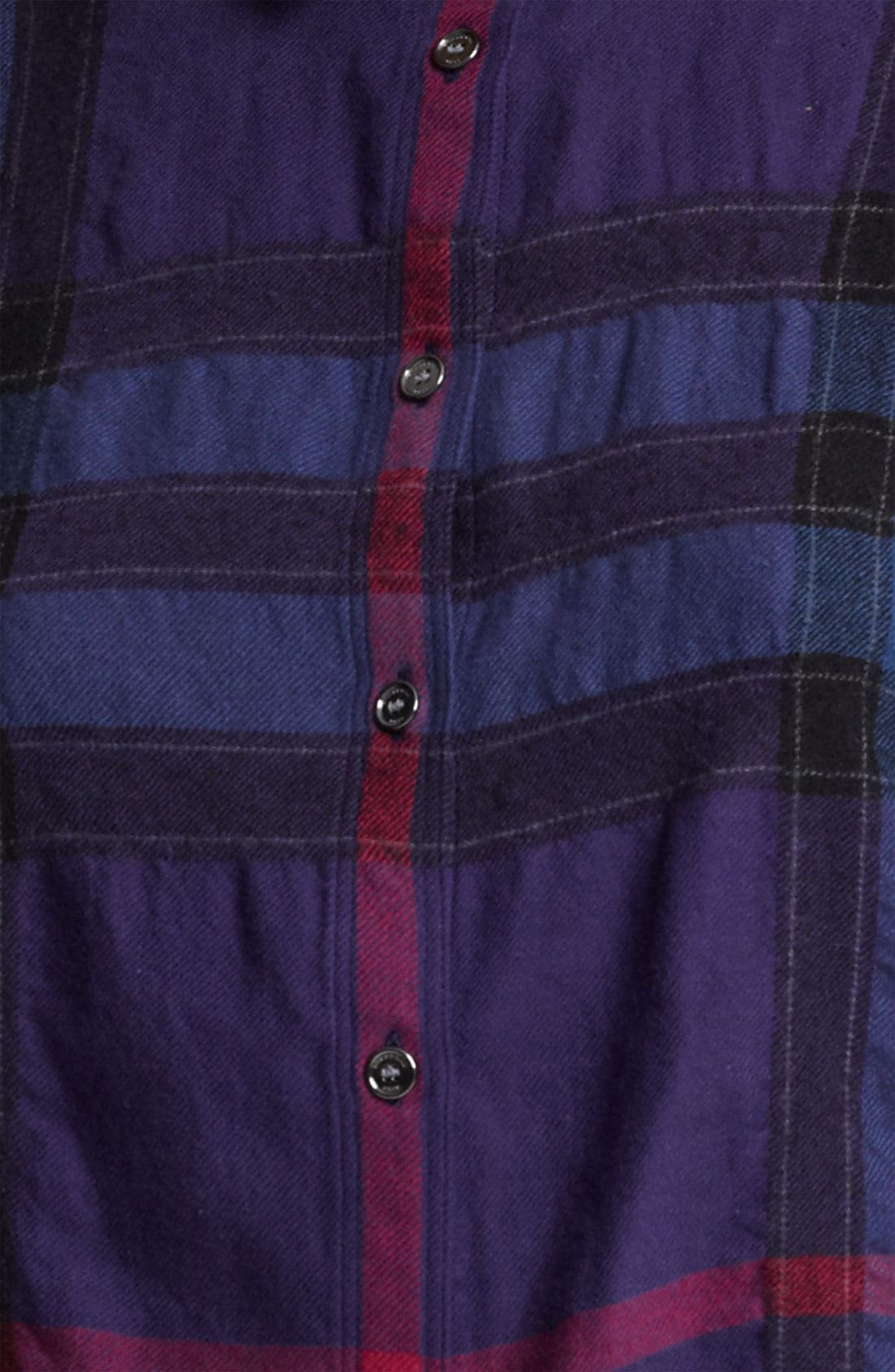 Alternate Image 3  - Burberry Brit Check Print Flannel Top