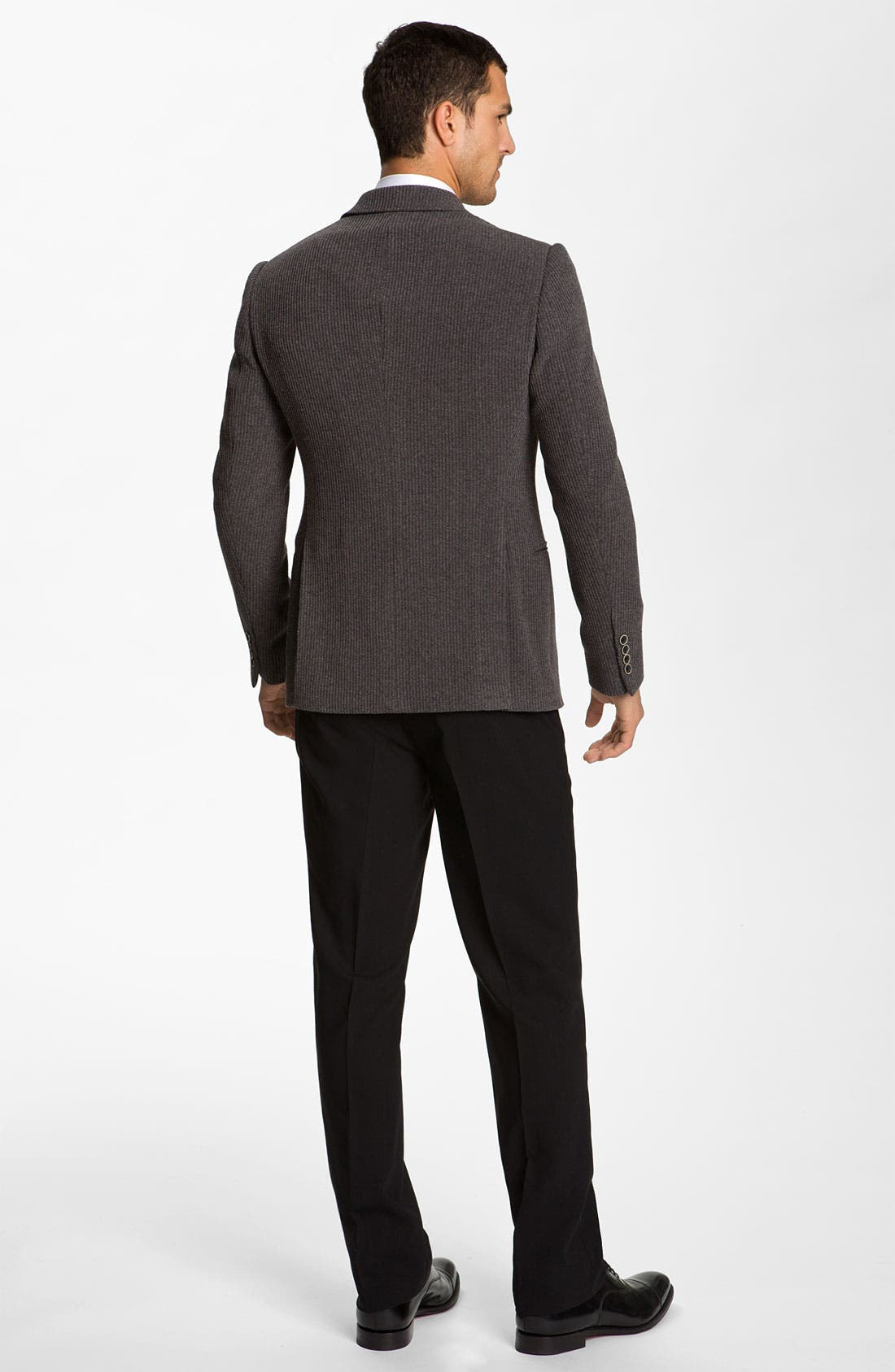 Alternate Image 5  - Armani Collezioni Trim Fit Knit Blazer