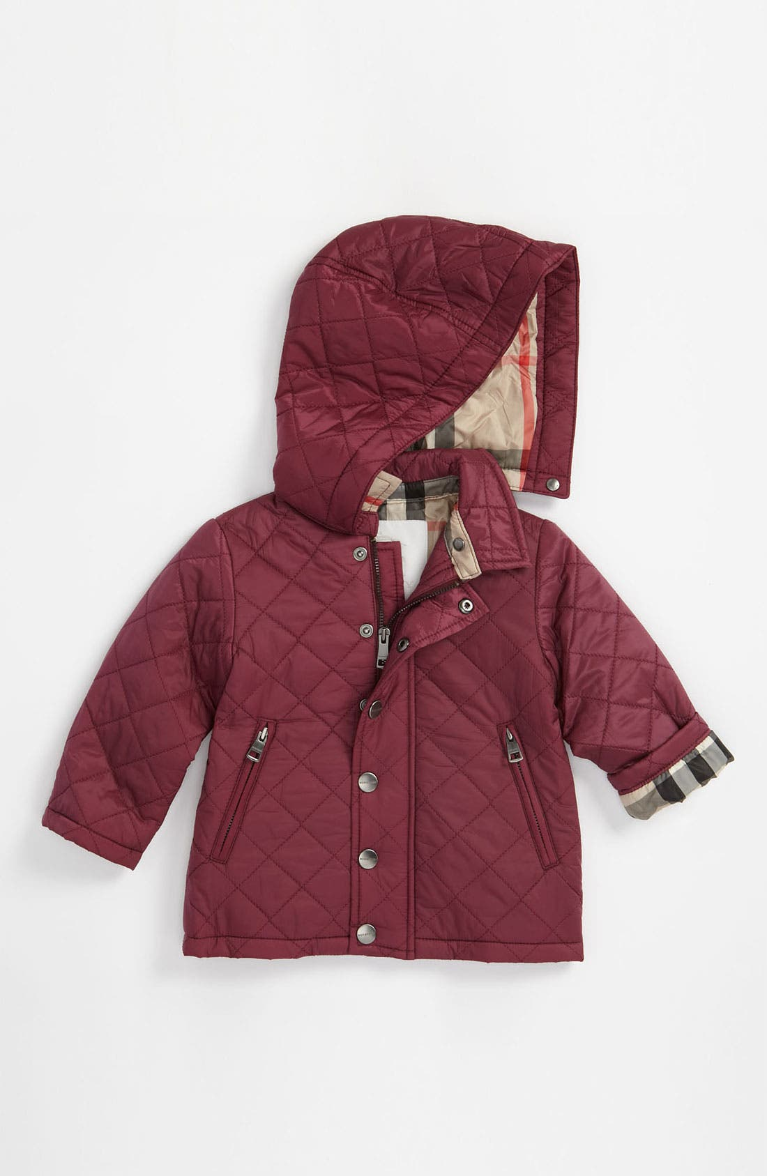 Main Image - Burberry Quilted Jacket (Toddler)