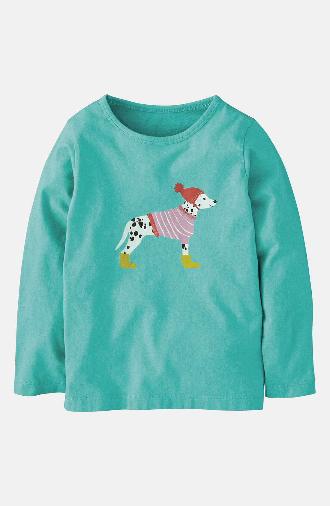 Main Image - Mini Boden 'Winter Wooly Pet' Tee (Toddler, Little Girls & Big Girls)