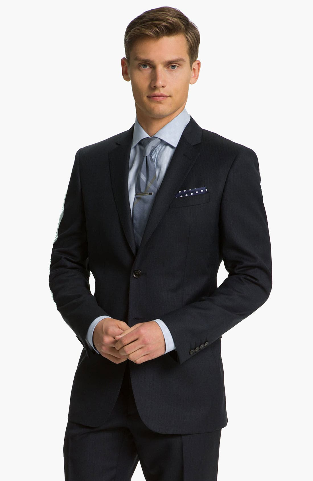 Alternate Image 1 Selected - Burberry London Extra Trim Fit Suit