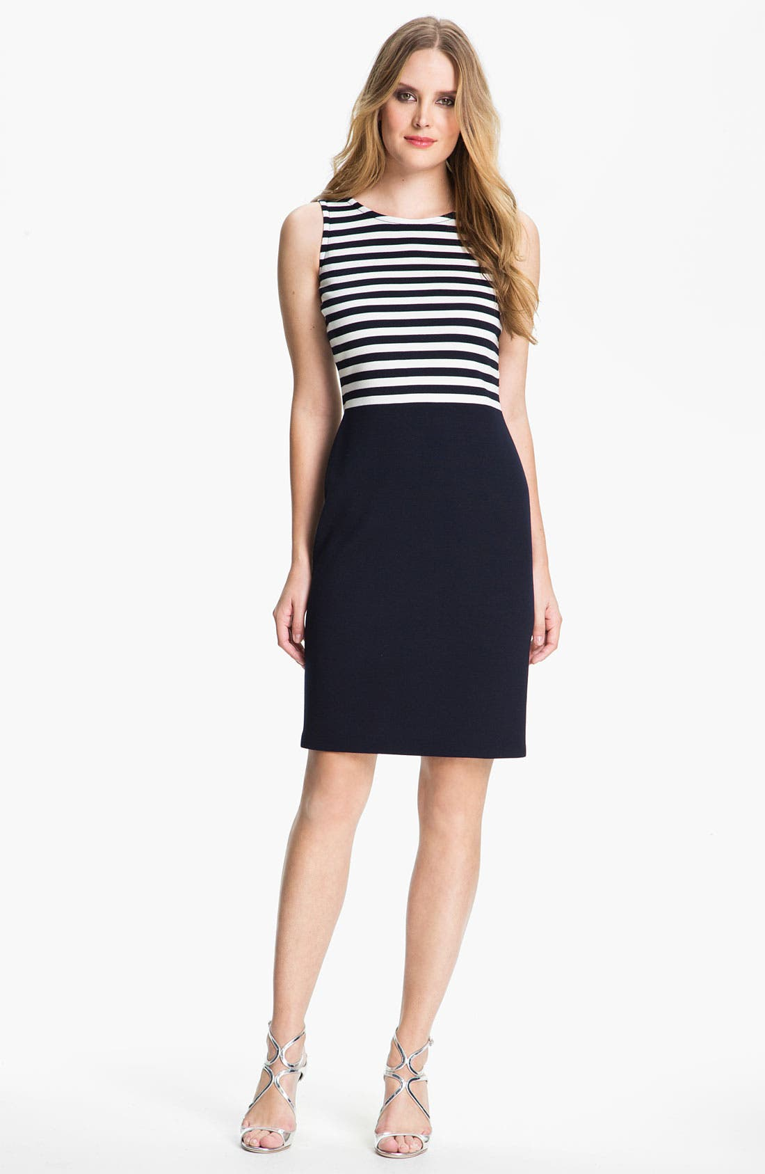 Main Image - St. John Collection Stripe Milano Knit Dress