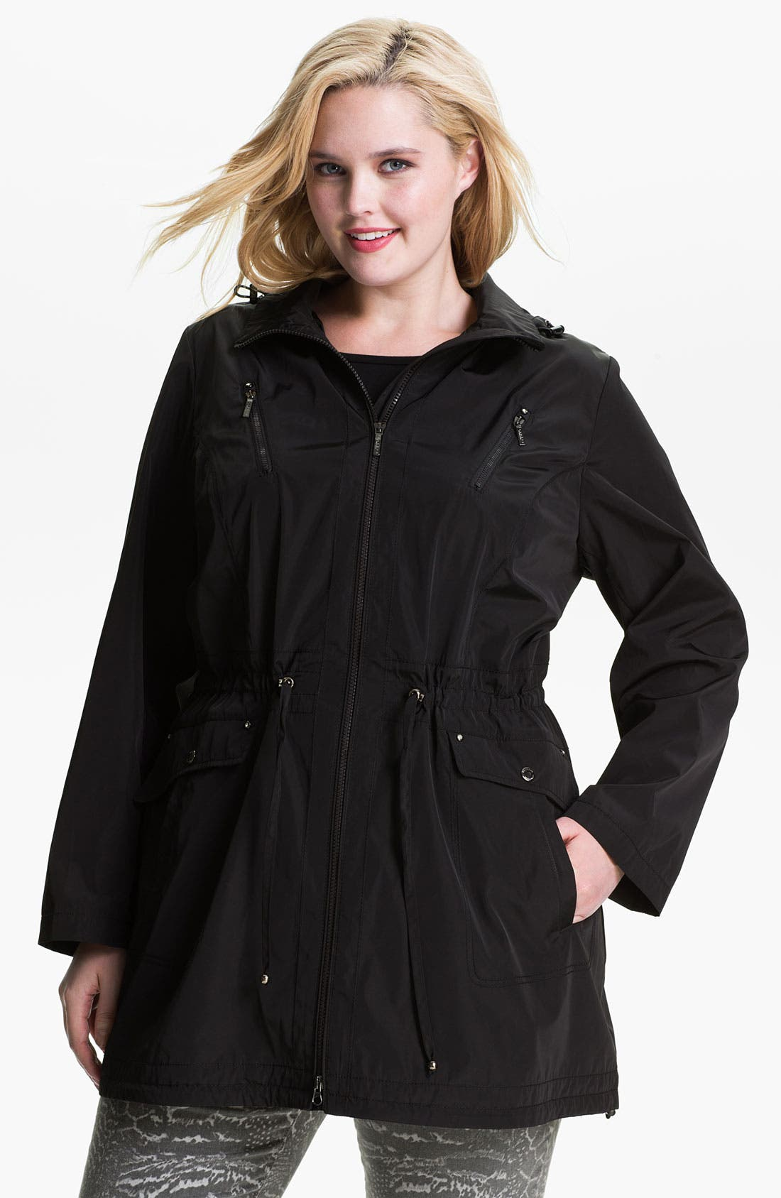 Alternate Image 1 Selected - Laundry by Shelli Segal Packable Anorak (Plus)