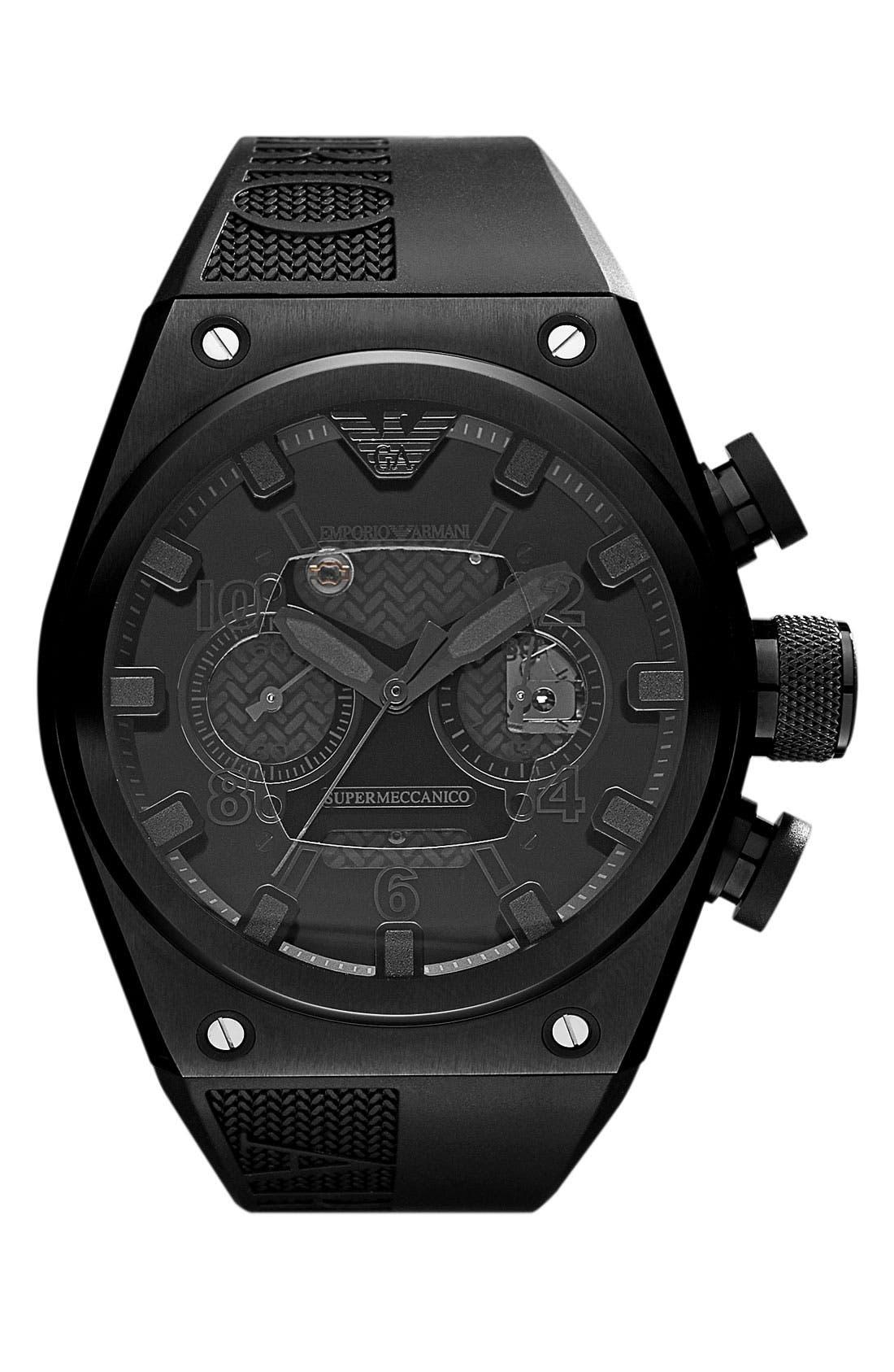 Alternate Image 1 Selected - Emporio Armani 'Super Meccanico - 30th Anniversary' Watch (Limited Edition)