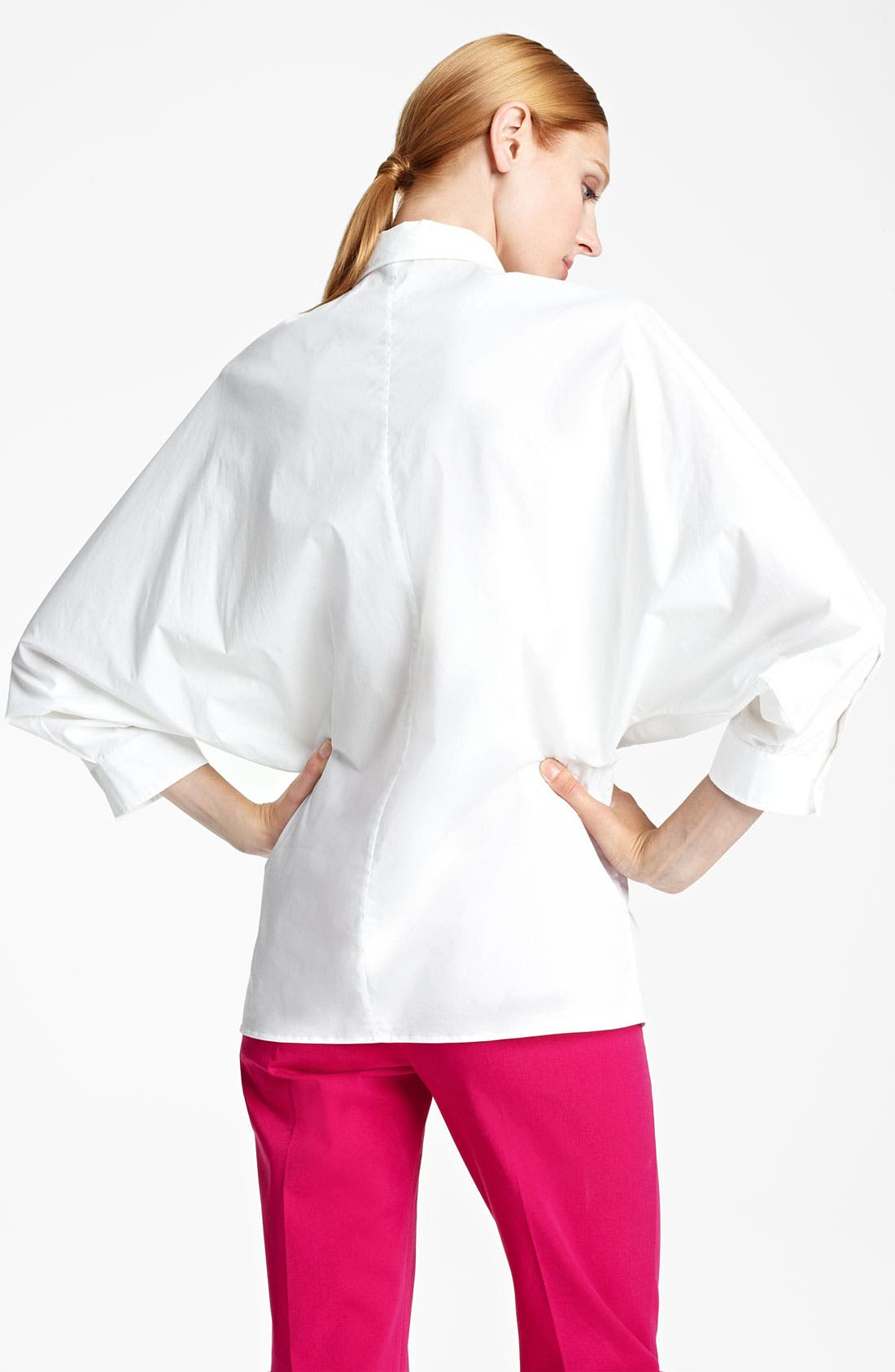 Alternate Image 2  - Max Mara 'Song' Full Sleeve Poplin Blouse
