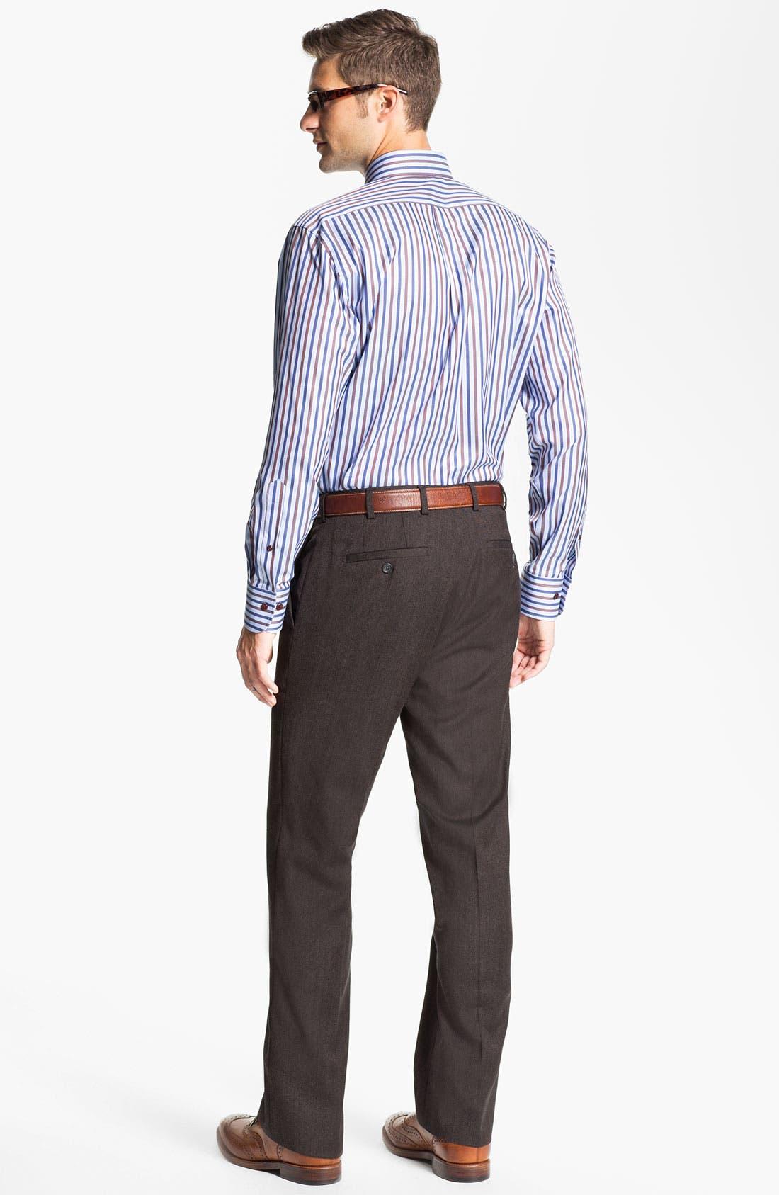 Alternate Image 5  - Peter Millar 'Hi Low' Flat Front Wool Trousers