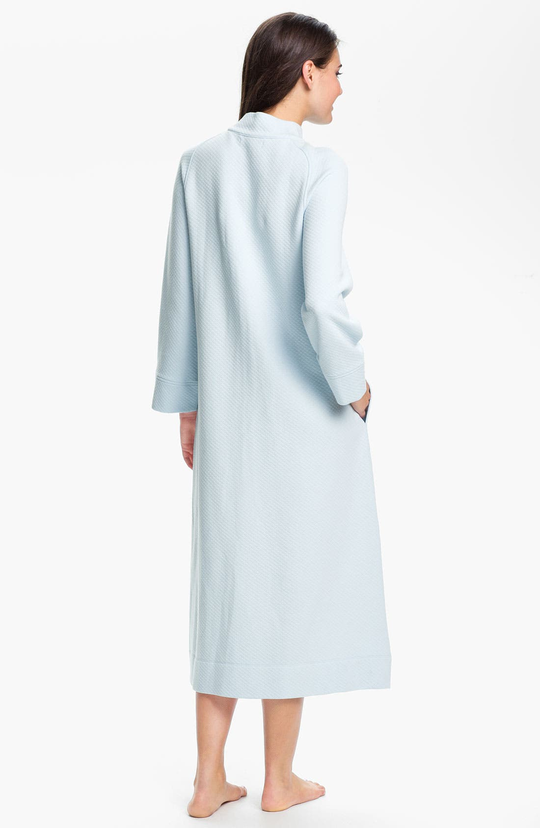 Alternate Image 2  - Carole Hochman Designs Diamond Quilt Zip Front Robe