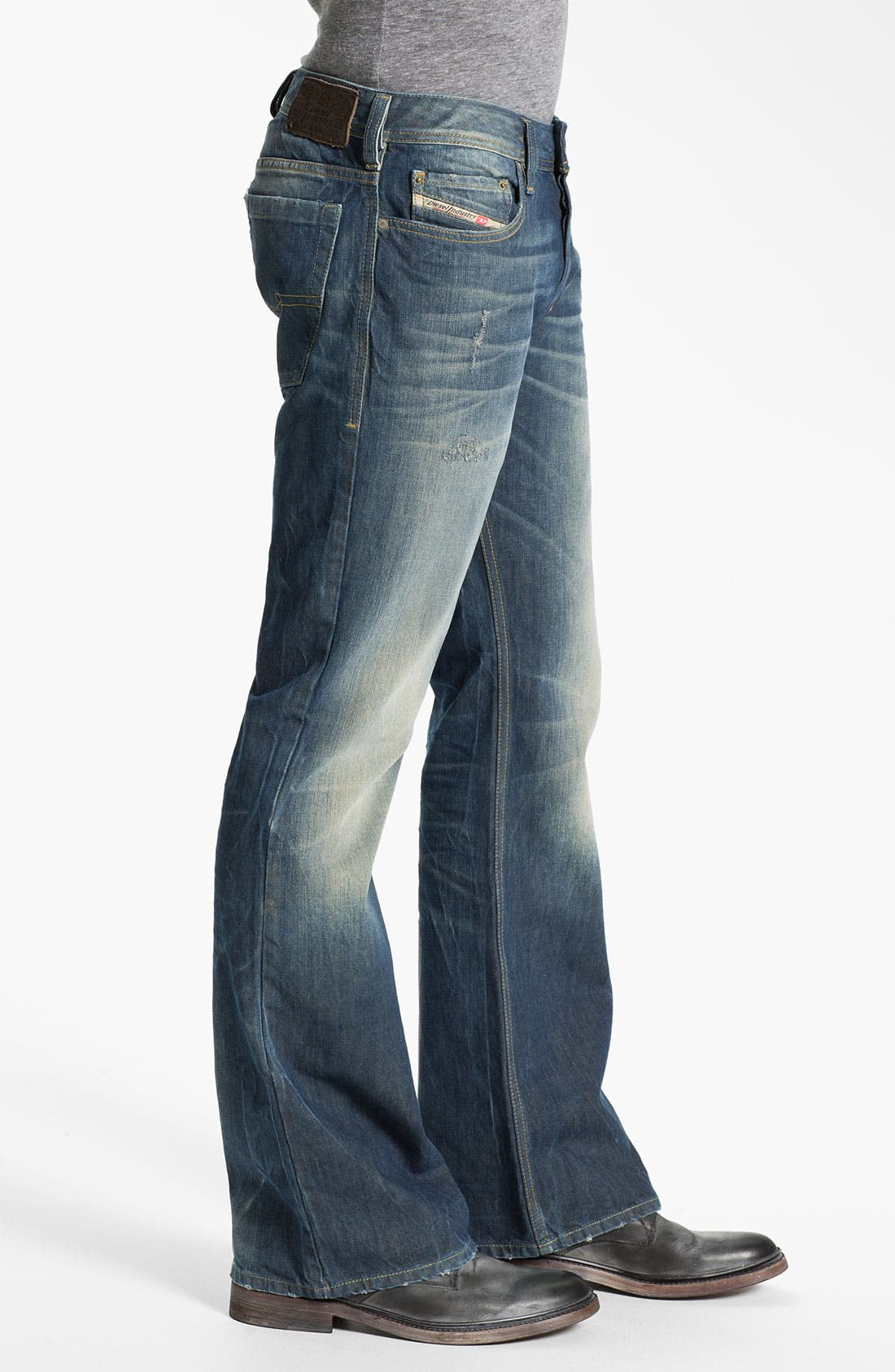 Alternate Image 3  - DIESEL® 'Zathan' Bootcut Jeans (0805U)