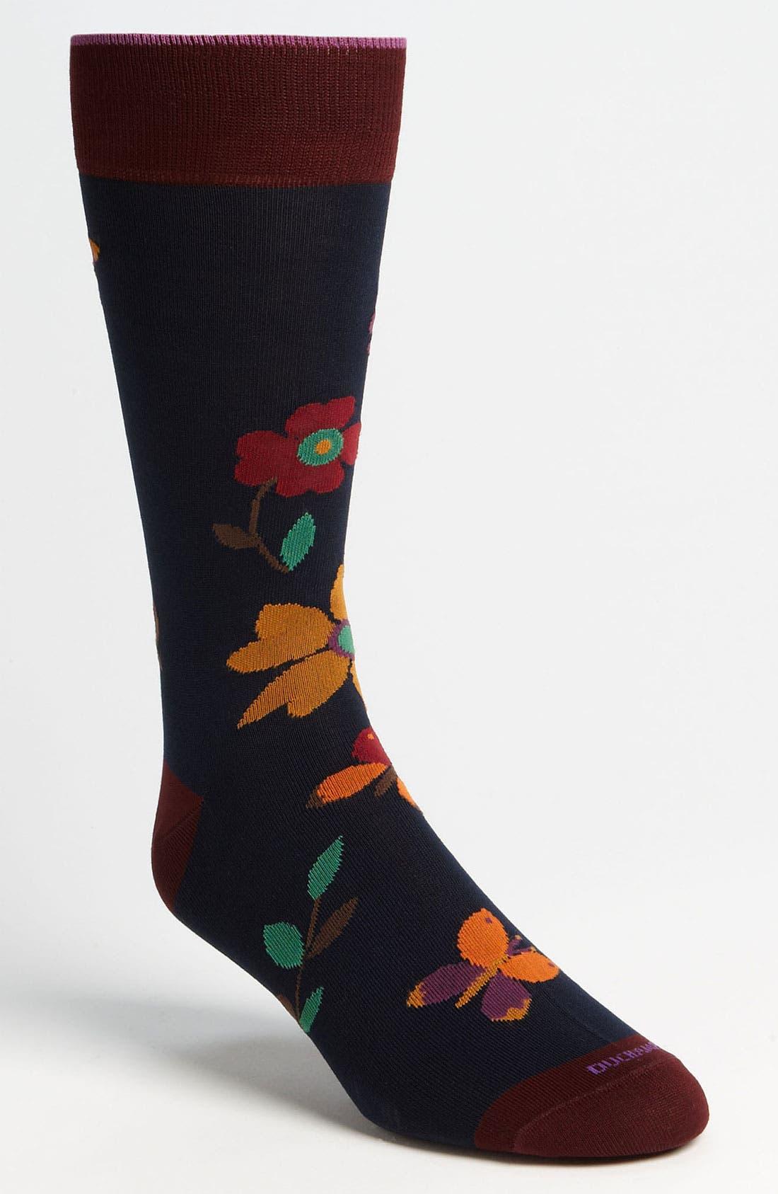 Alternate Image 1 Selected - Duchamp 'Garden Whimsy' Socks