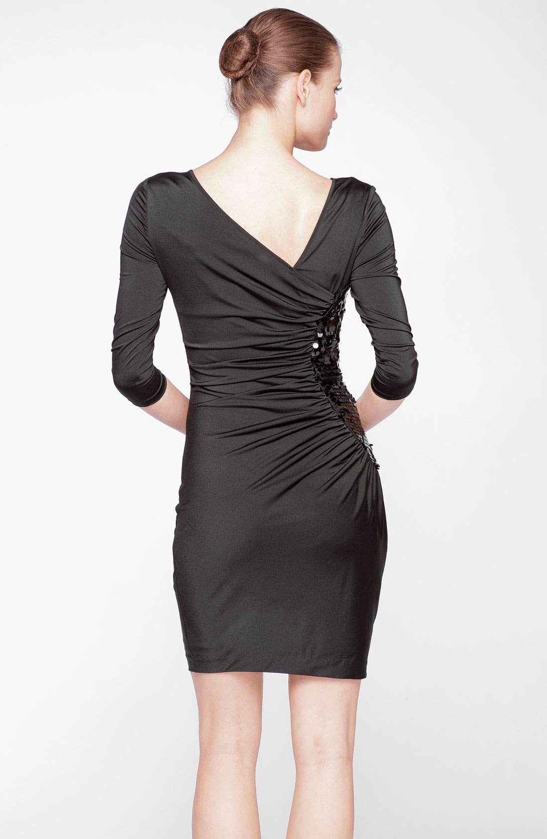 Alternate Image 2  - Marc New York by Andrew Marc Ruched Sequin Side Sheath Dress