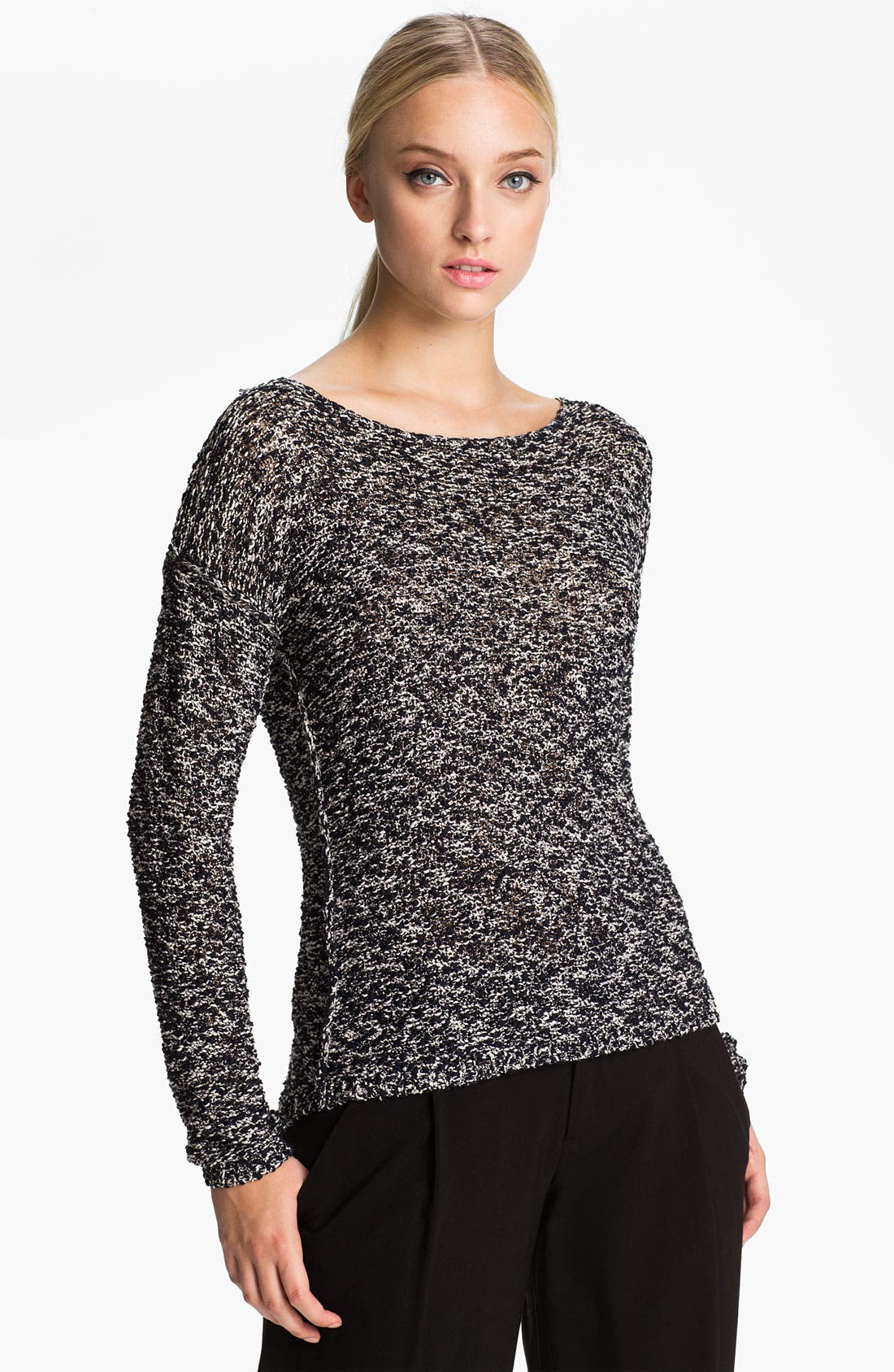 Alternate Image 1 Selected - Alice + Olivia 'Gloria' Boxy Knit Sweater