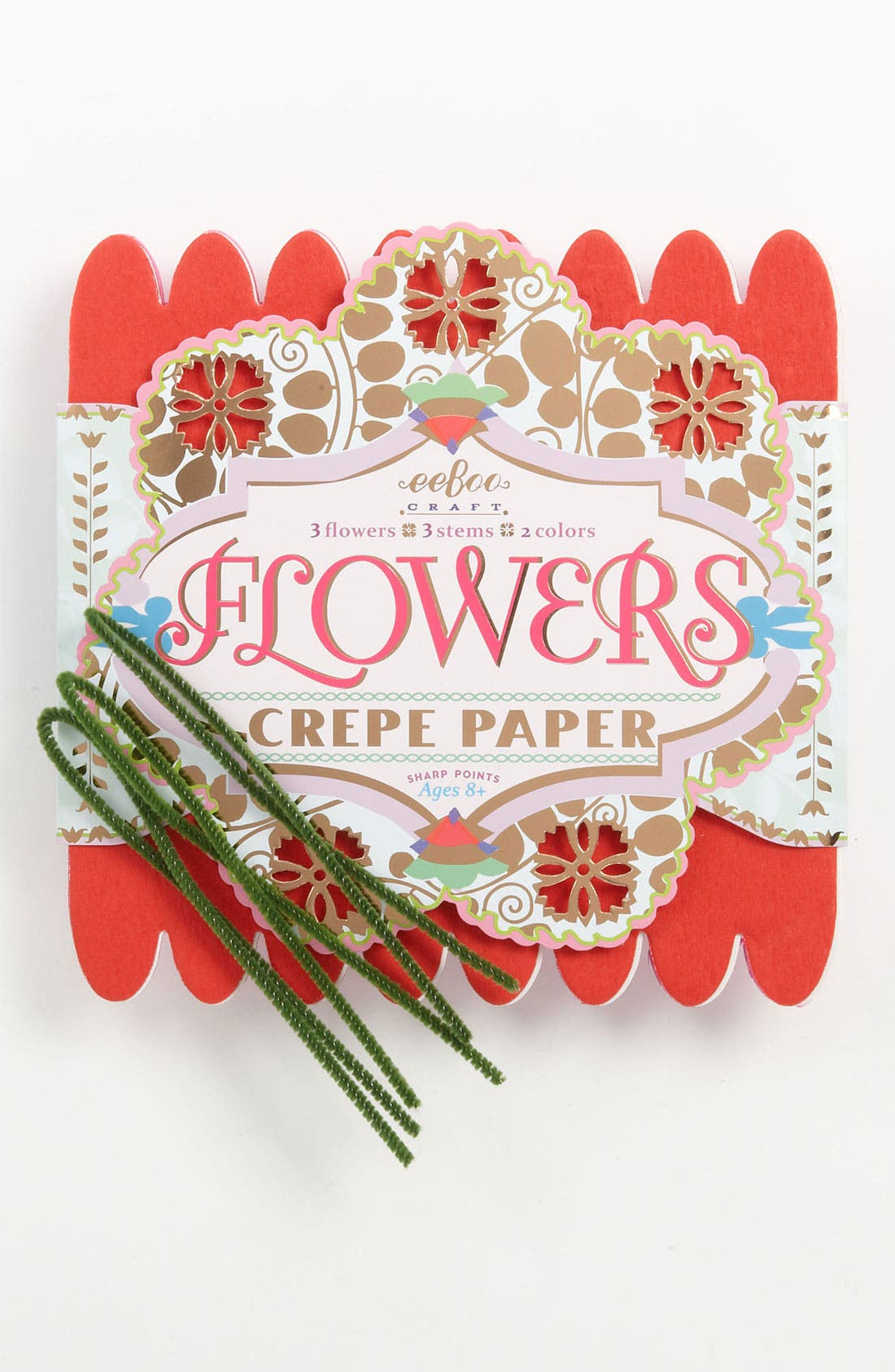 Alternate Image 1 Selected - eeBoo Crepe Paper Flower Making Kit