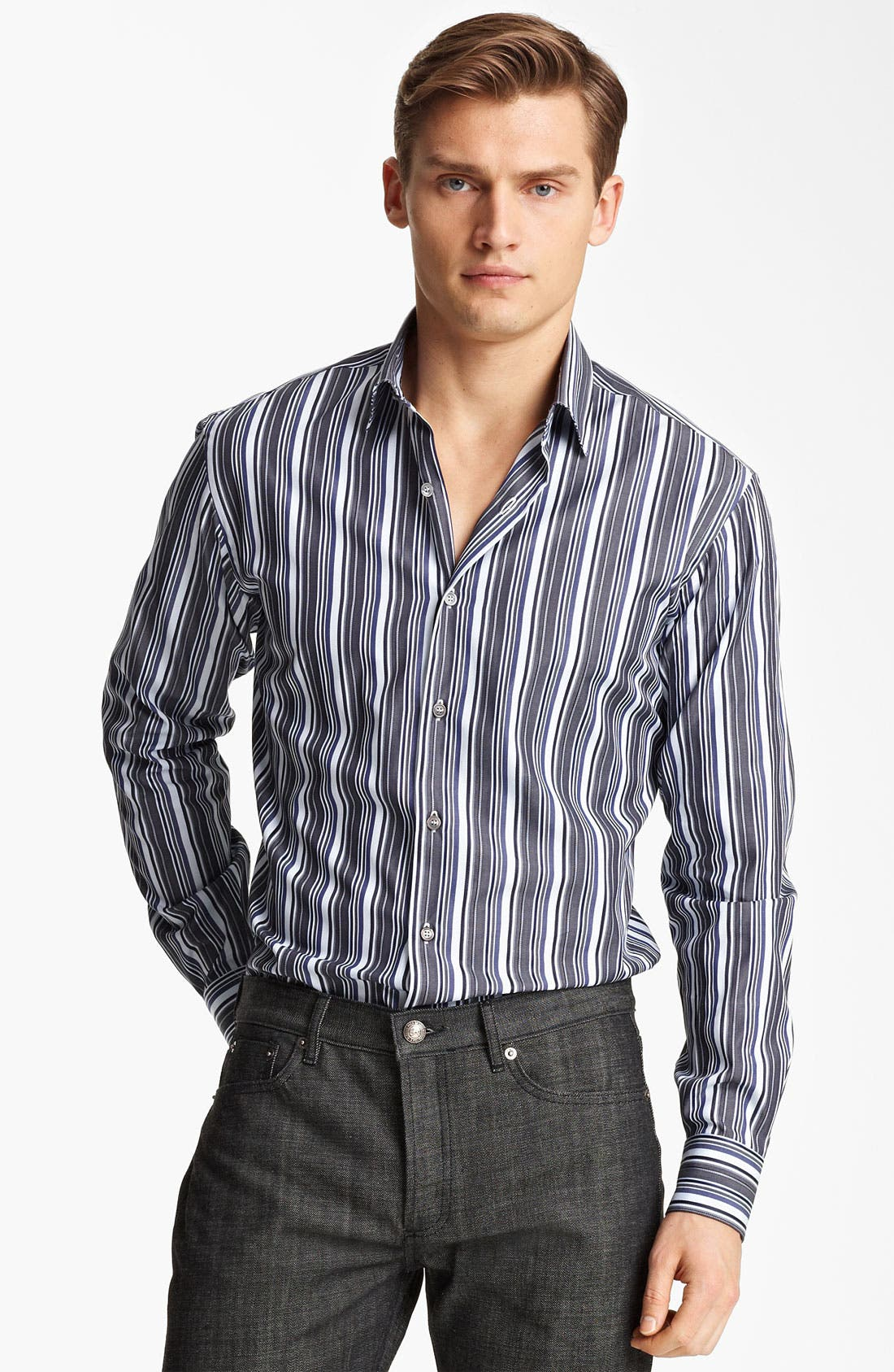 Main Image - Salvatore Ferragamo Trim Fit Sport Shirt