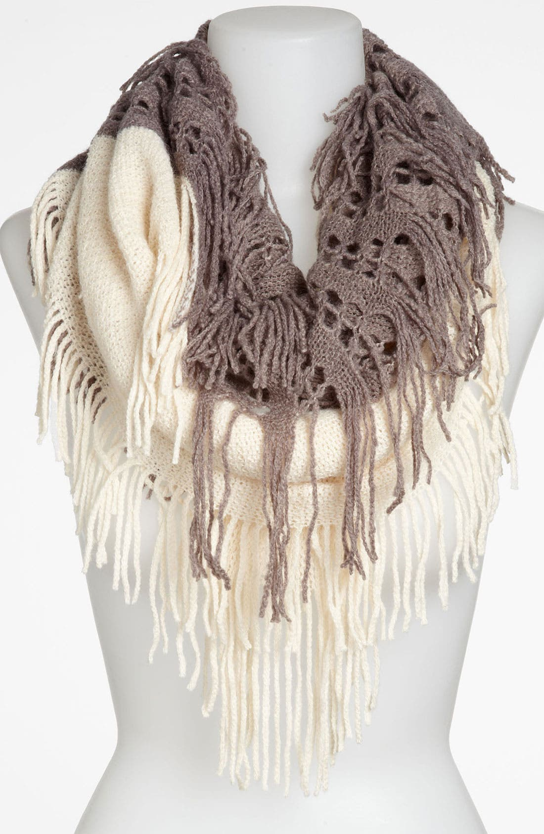 Alternate Image 1 Selected - BP. Two Tone Fringe Infinity Scarf