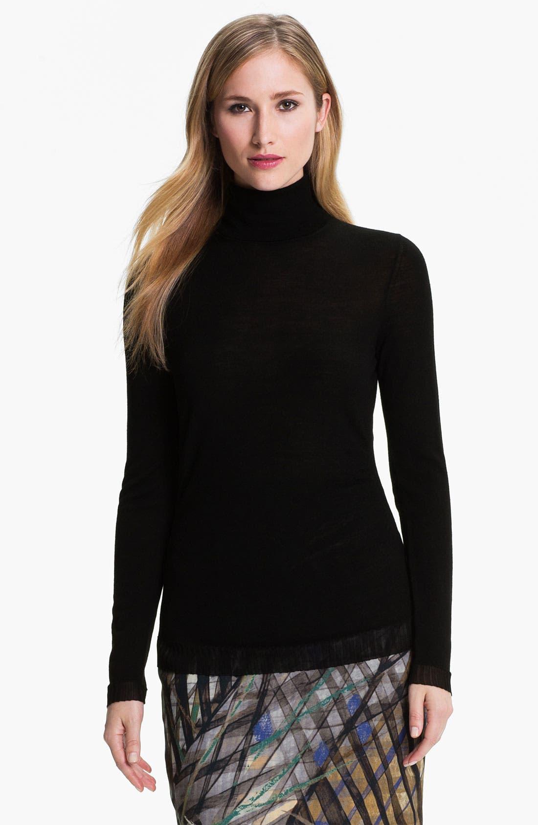 Main Image - BOSS HUGO BOSS Wool Jersey Turtleneck
