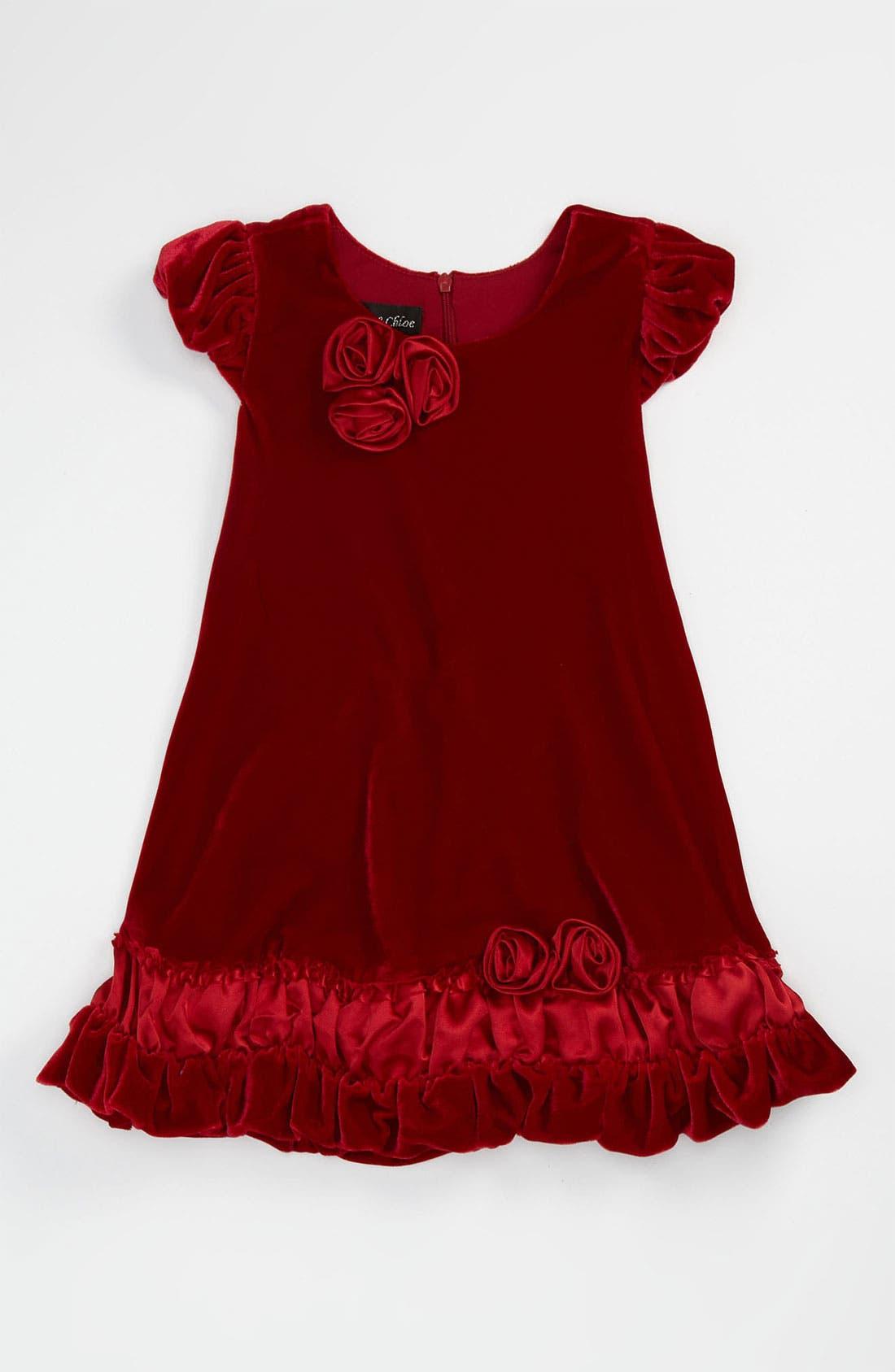Alternate Image 1 Selected - Isobella & Chloe Velvet Dress (Toddler)