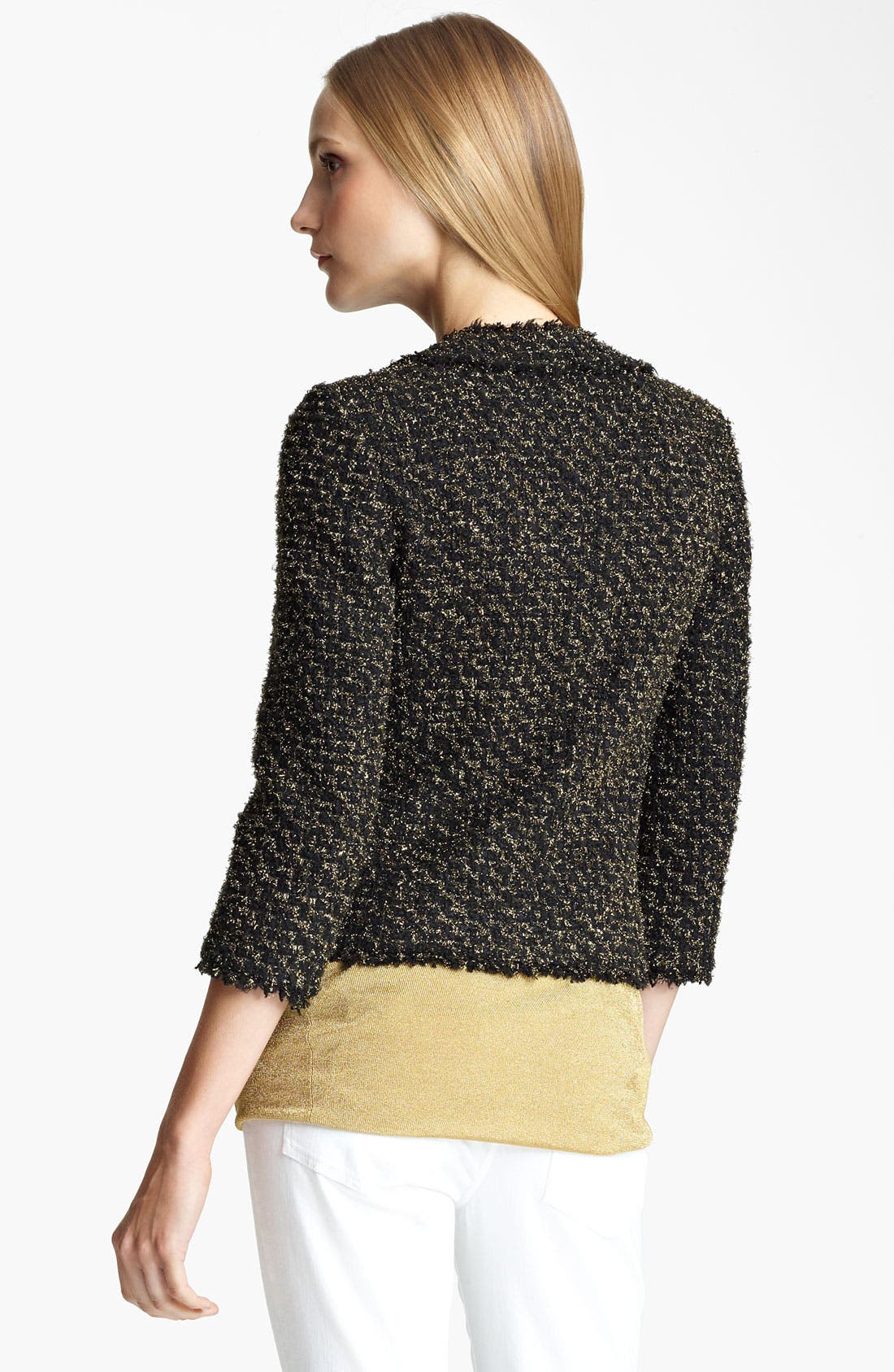 Alternate Image 2  - Michael Kors Metallic Tweed Jacket